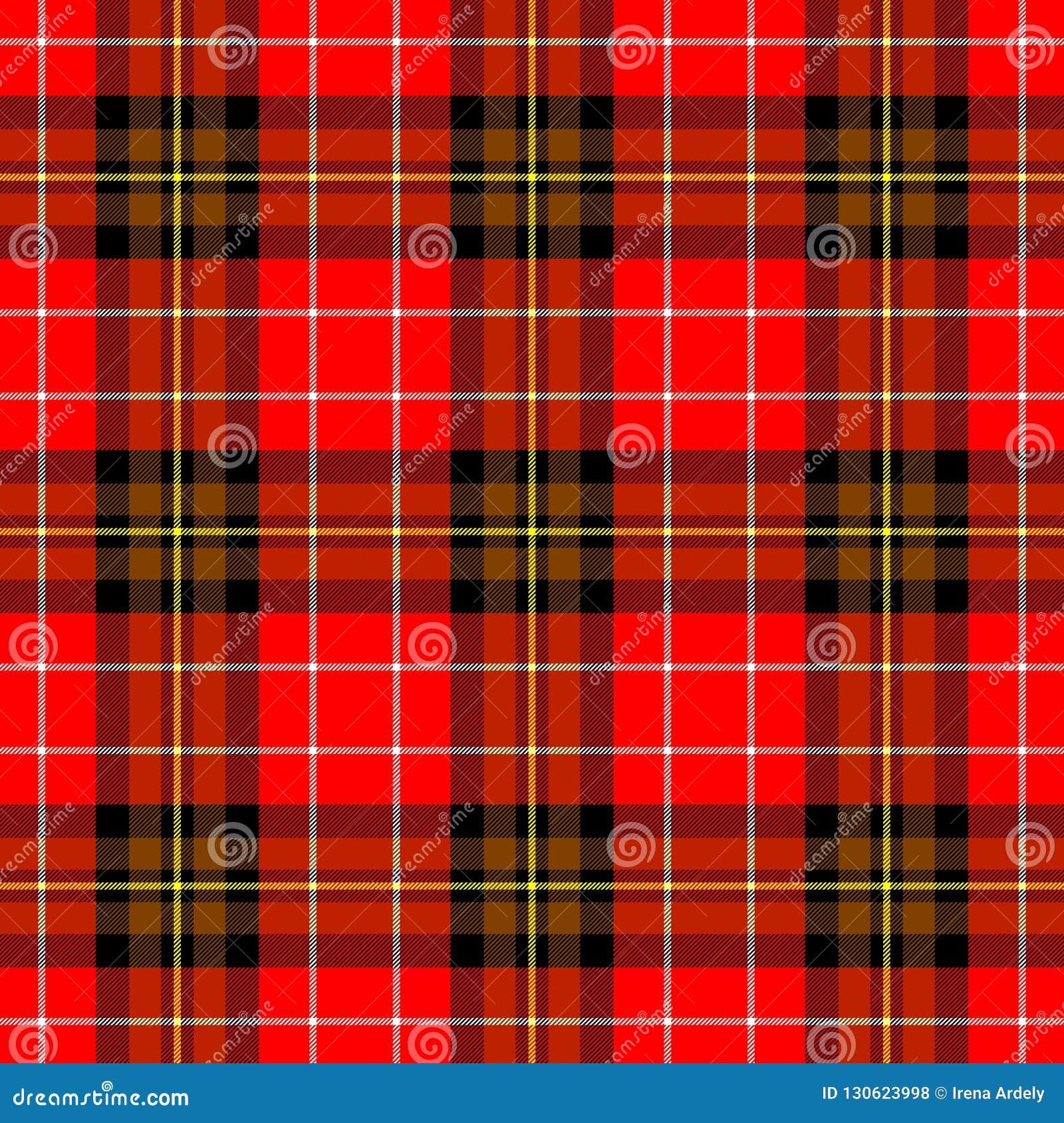 Diamond Tartan Plaid Scotch Kilt Fabric Seamless Pattern