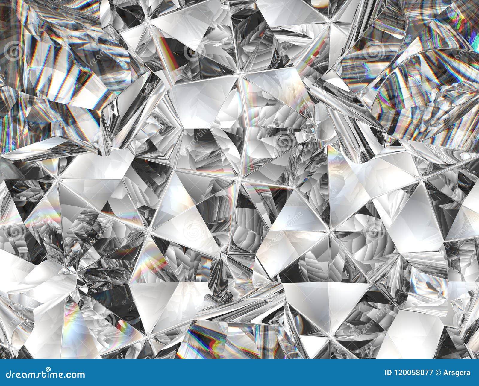Diamond texture closeup and kaleidoscope