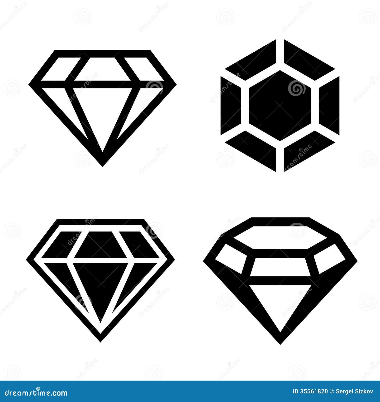 diamond vector icons set stock photo image 35561820 snowboarding clipart snowboard clip art black and white