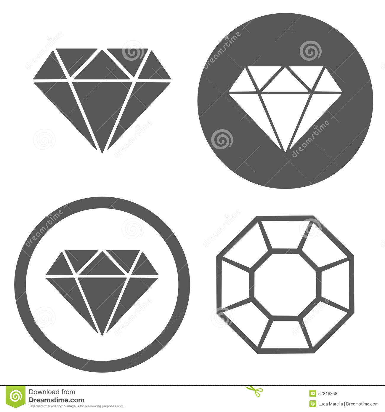 Vector Collection Of Jewellery And Diamond Logos. Stock Vector ...