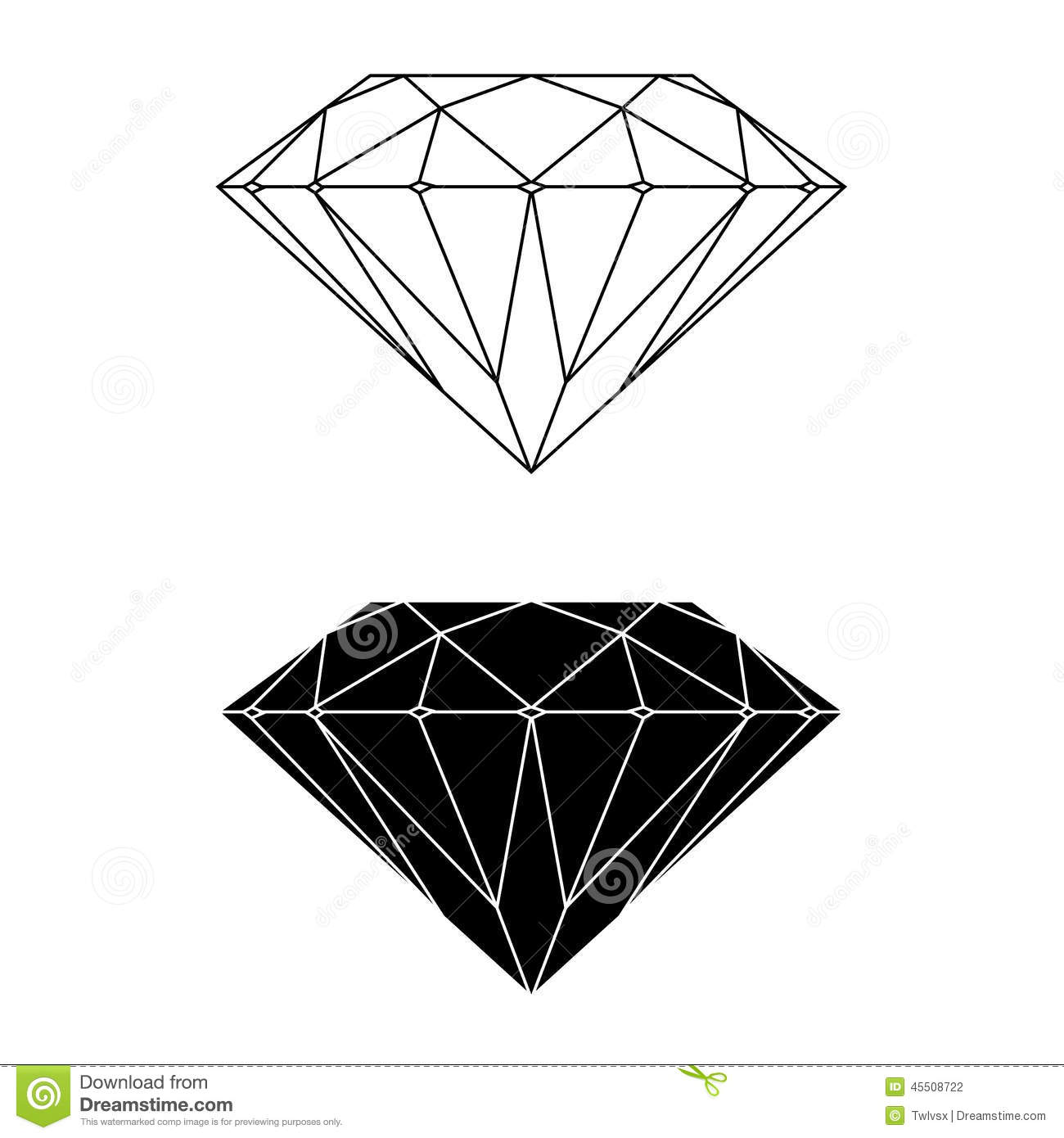 Stock Photography: Diamond Vector and Silhouette. Image ...
