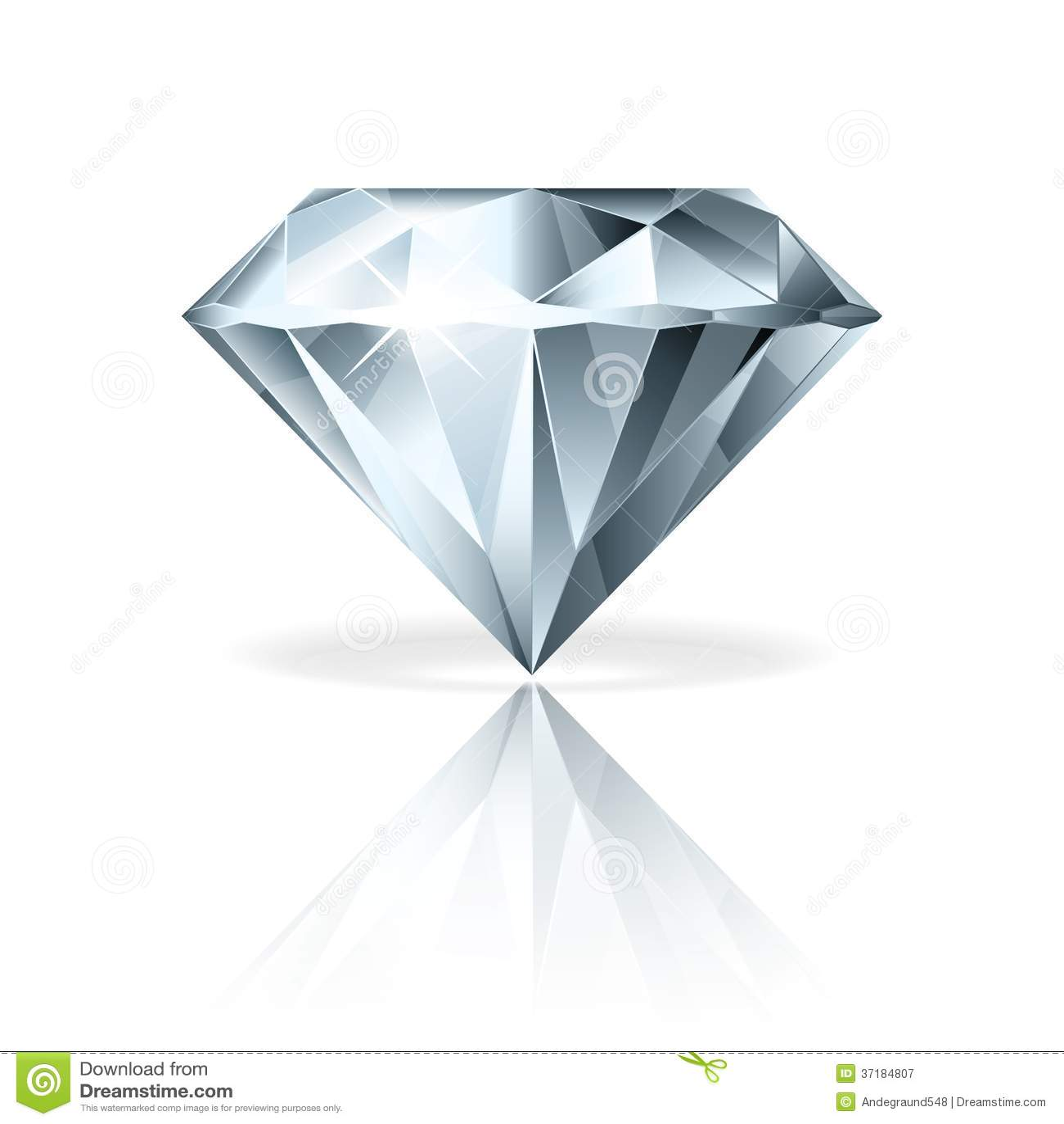 Diamond On White Vector Illustration Royalty Free Stock