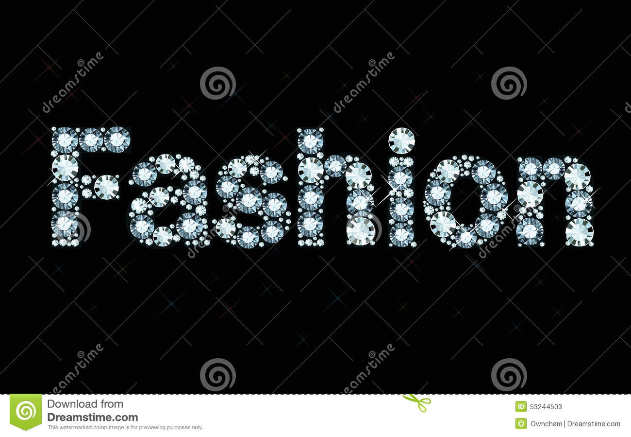 Diamond Word Fashion Stock Vector Image Of Exuberance