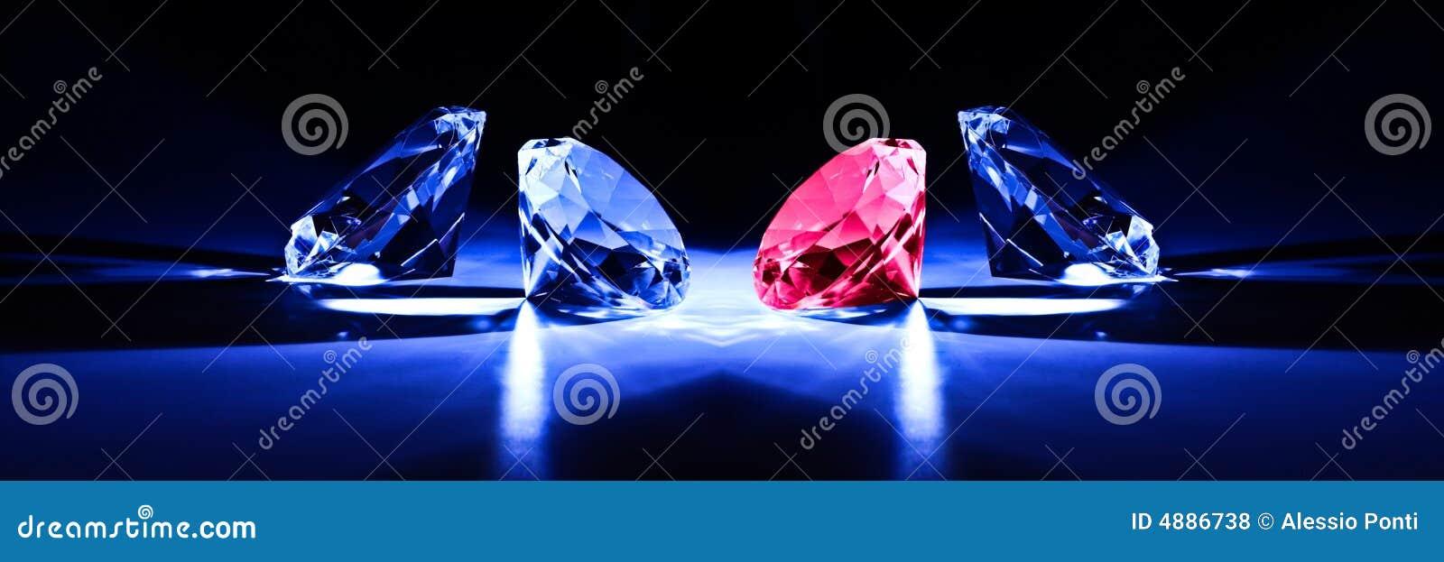 Diamonds close-up metaphor