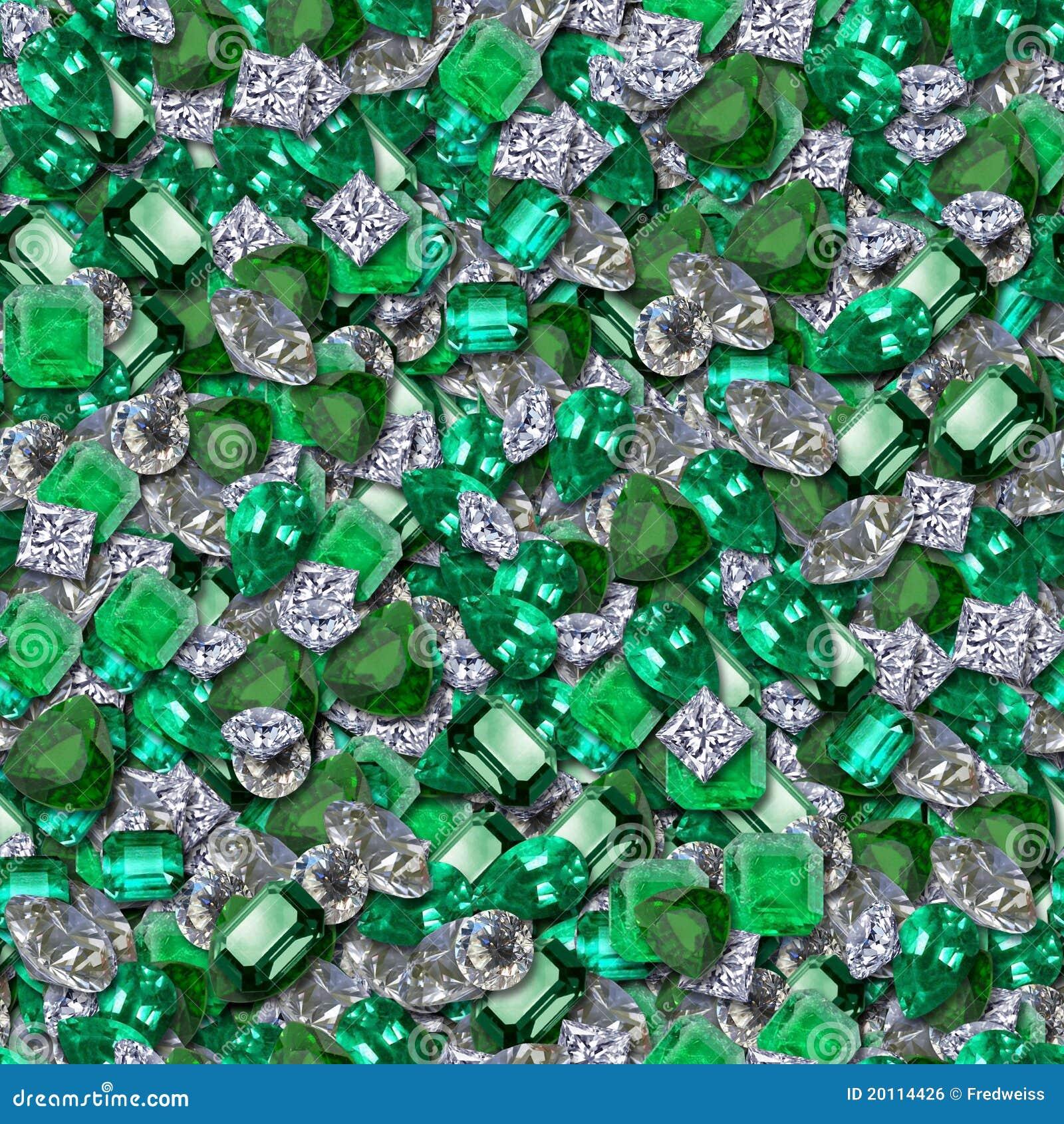 Diamonds And Emeralds Royalty Free Stock Image - Image: 20114426