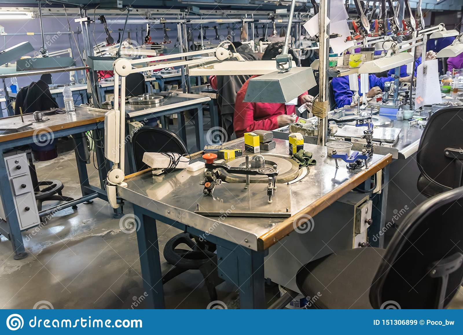 Diamonds polishing factory