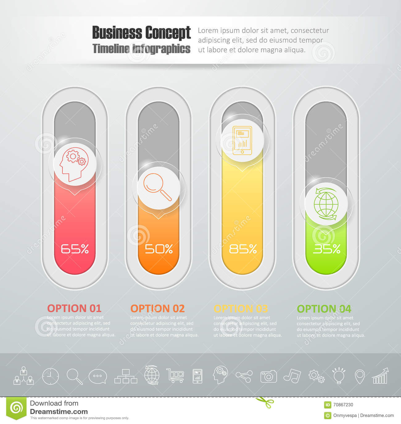 Diapositiva De La Parte Inferior Del Diseño, Plantilla Infographic ...