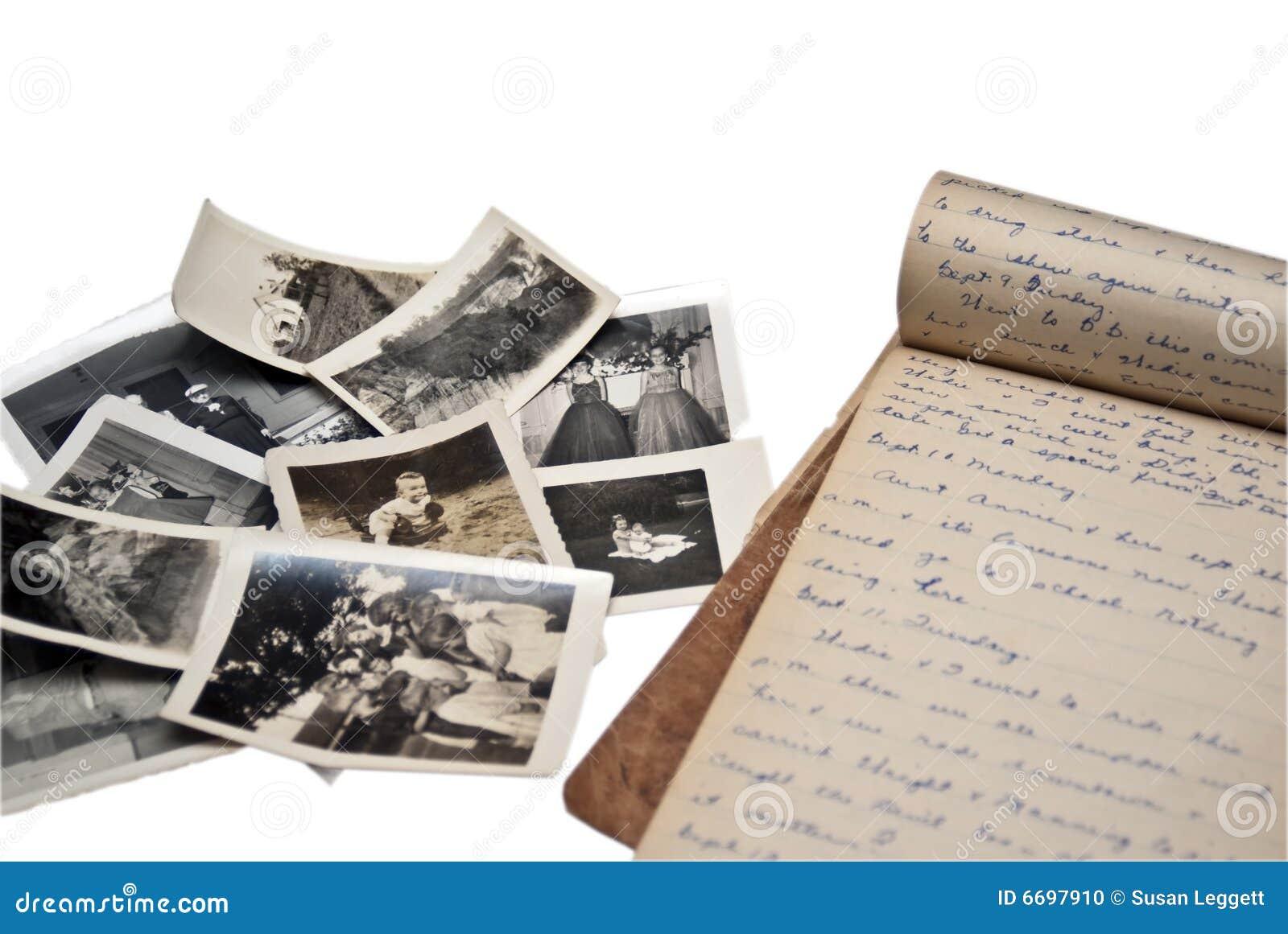 Diario y fotos viejos