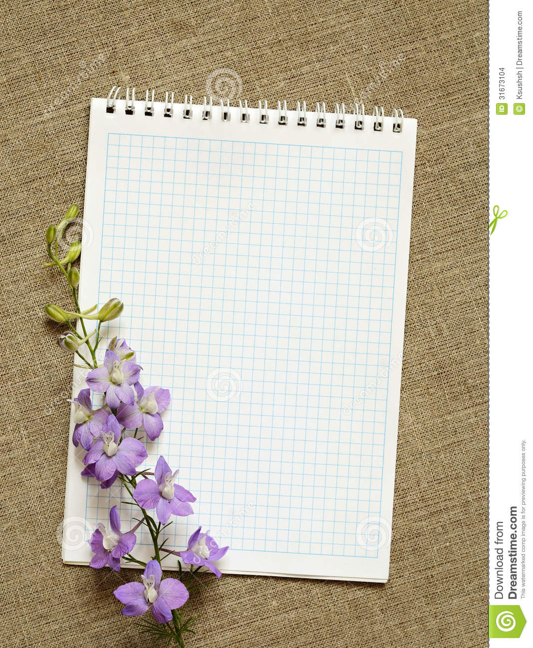 Diary And Flowers Stock Photo Image Of College Checked