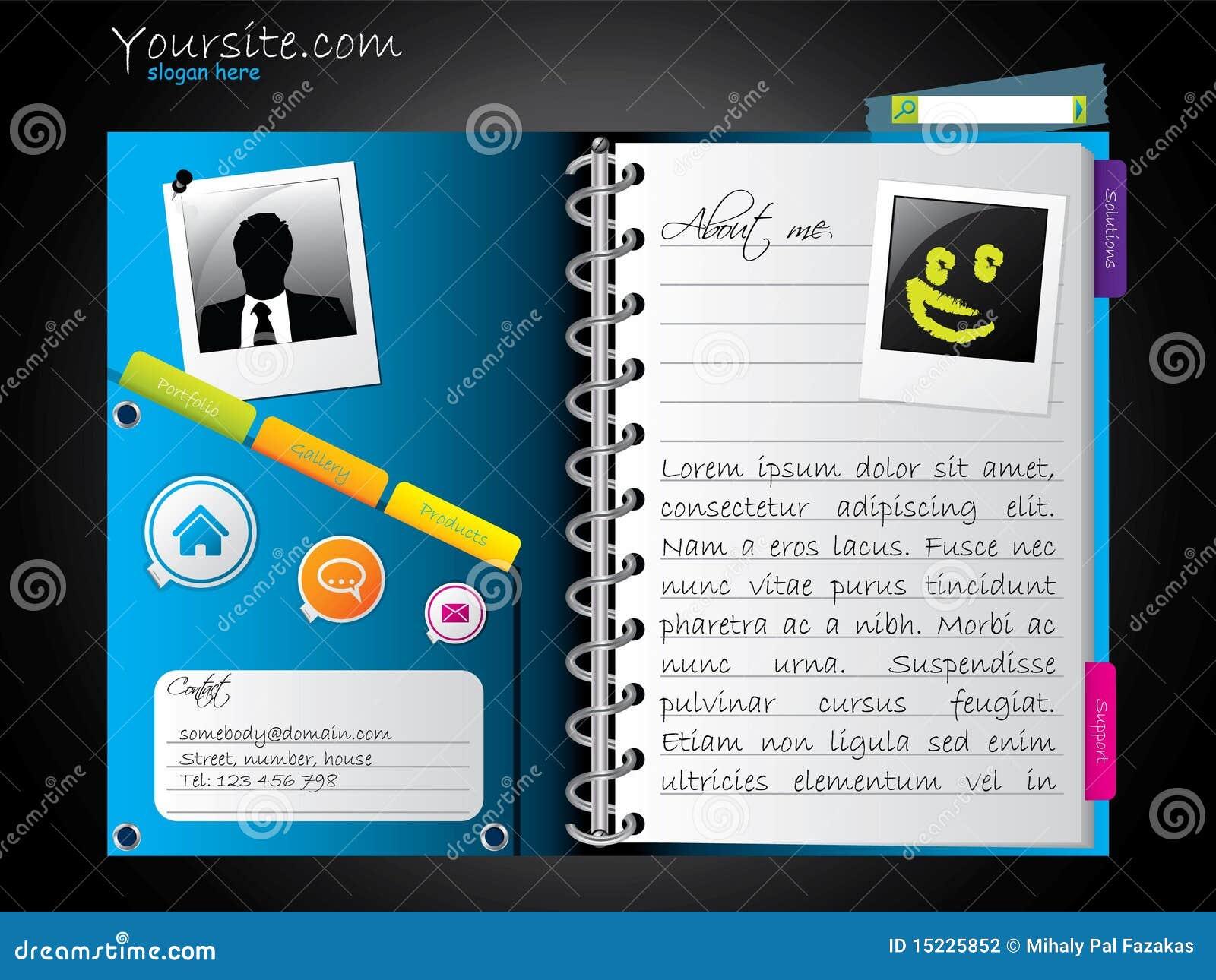 Diary-like Web Template Stock Photography - Image: 15225852