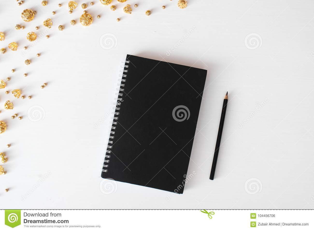 Diary Post Card Flyer Christmas Composition Wallpaper Decorations Ornaments On White Background Flat Lay Top View Stock Photo Image Of Notes Branding 104456706