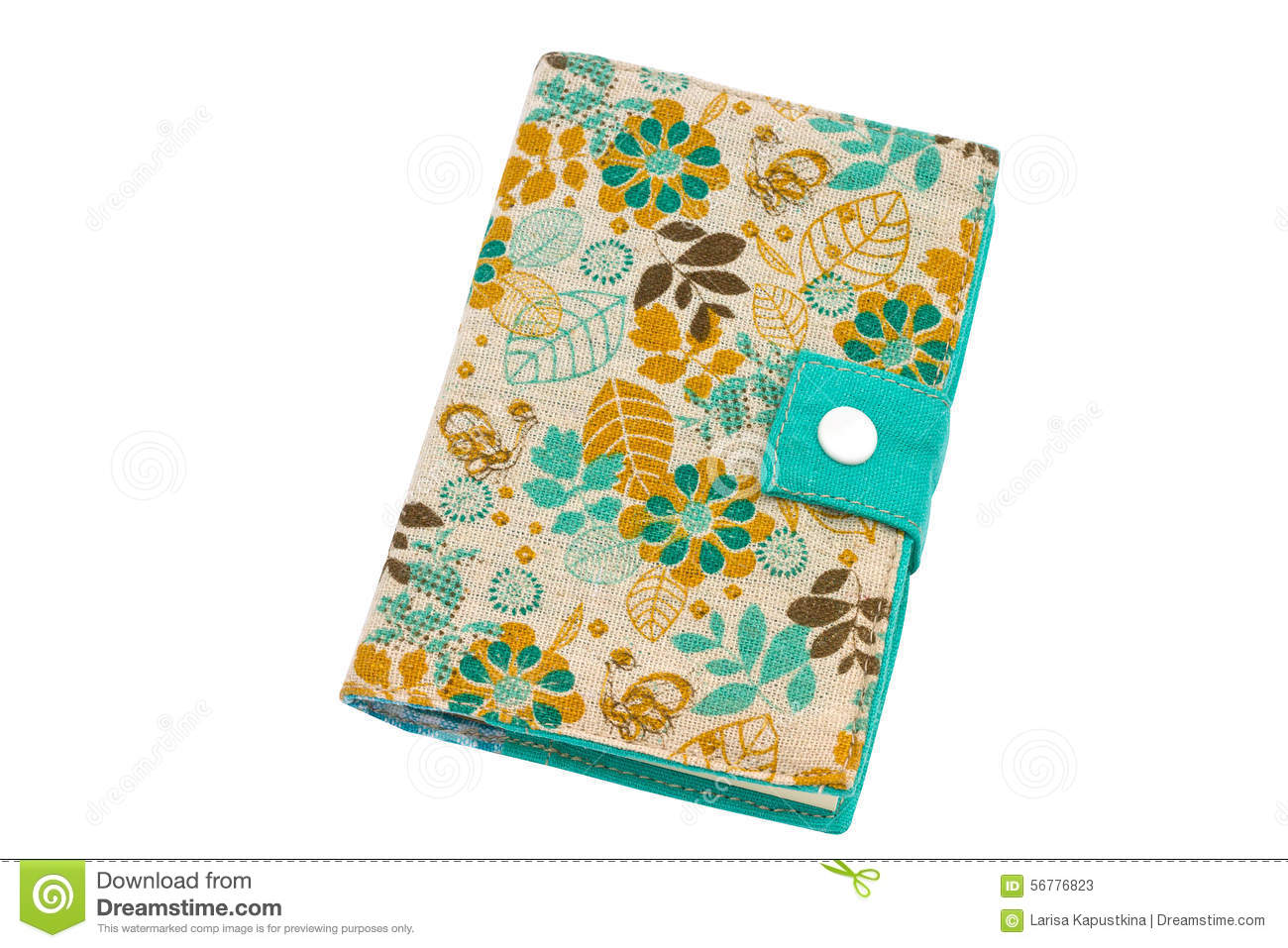 Notebook Cover Background : Diary on a white background stock photo image