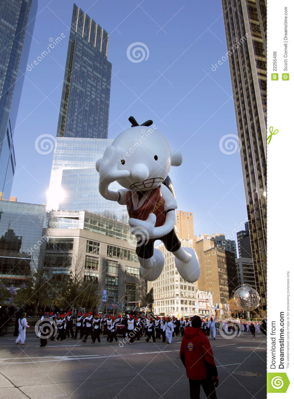 diary of a wimpy kid balloon in macys parade editorial