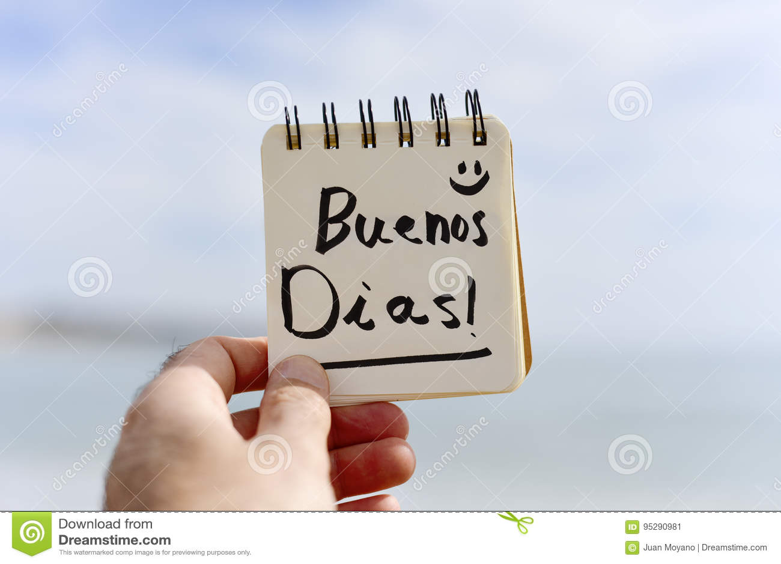 Dias Dos Buenos Do Texto Bom Dia No Espanhol Imagem De