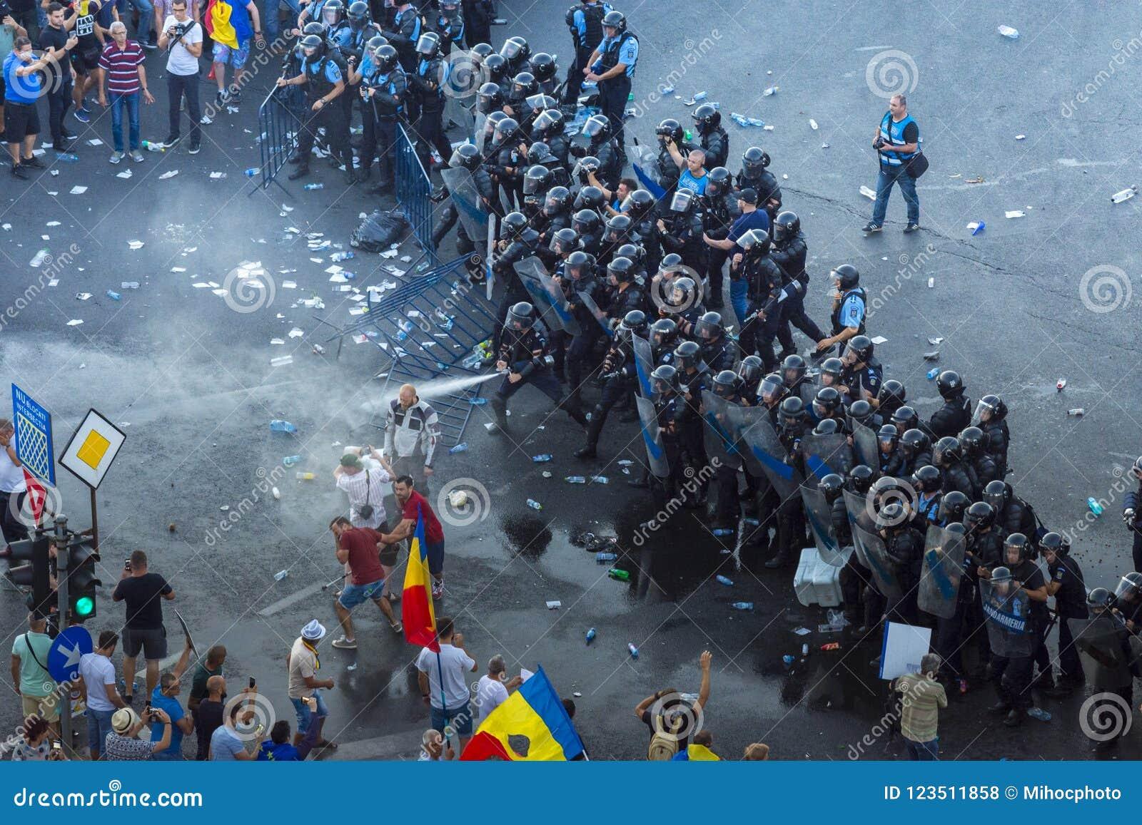 Diasporaprotest i Bucharest mot regeringen