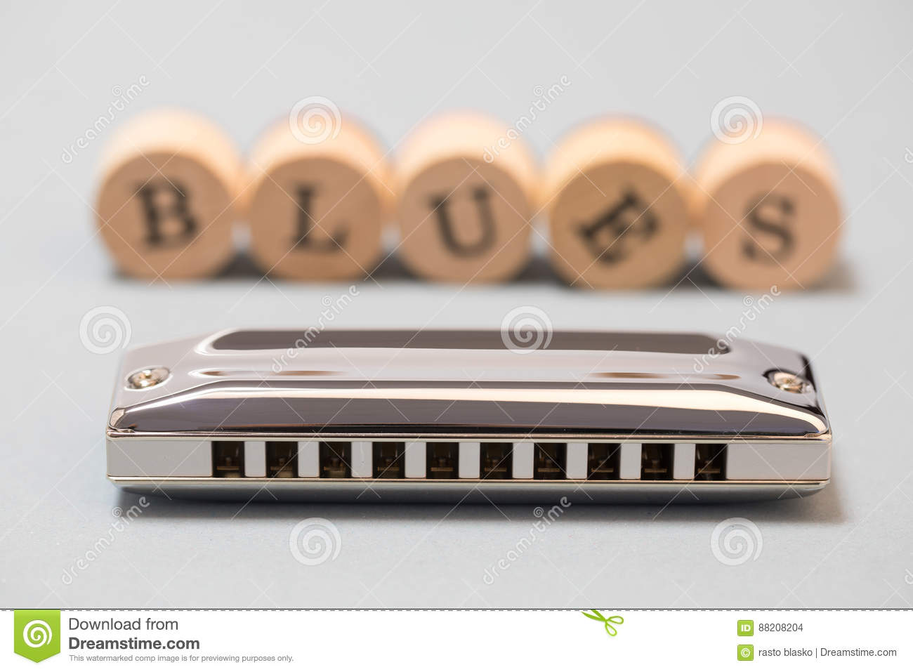 Diatonic blues harmonica stock photo  Image of music - 88208204
