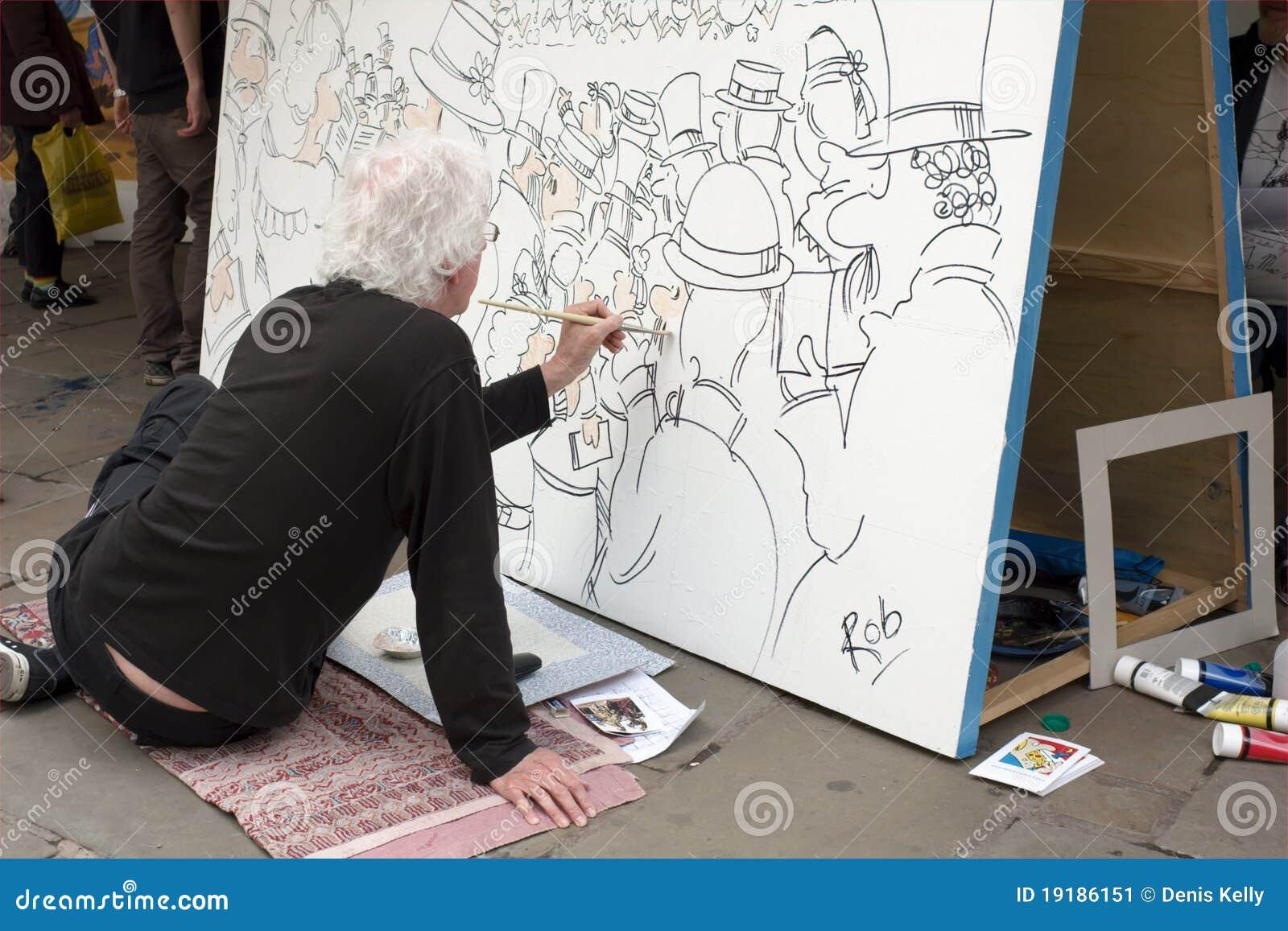 Dibujante en el trabajo