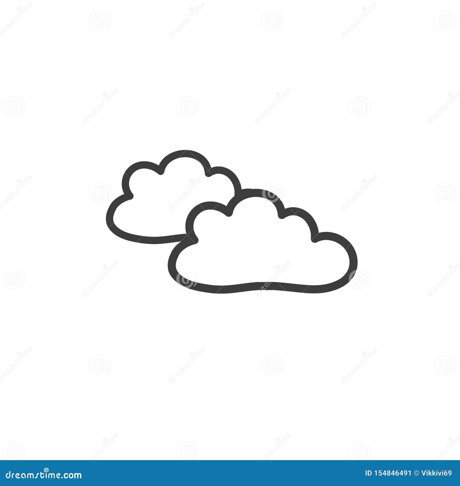 Dibujo De Dos Nubes En El Estilo De Un Garabato Un Símbolo Del Tiempo  Nublado Vector Que Dibuja A Mano Ilustración del Vector - Ilustración de  dibuja, nublado: 154846491