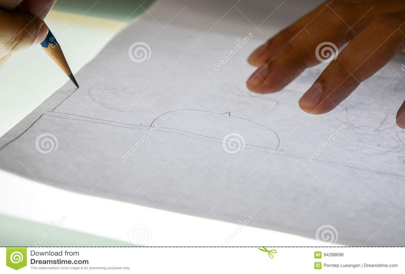 Dibujo de la mano cómico