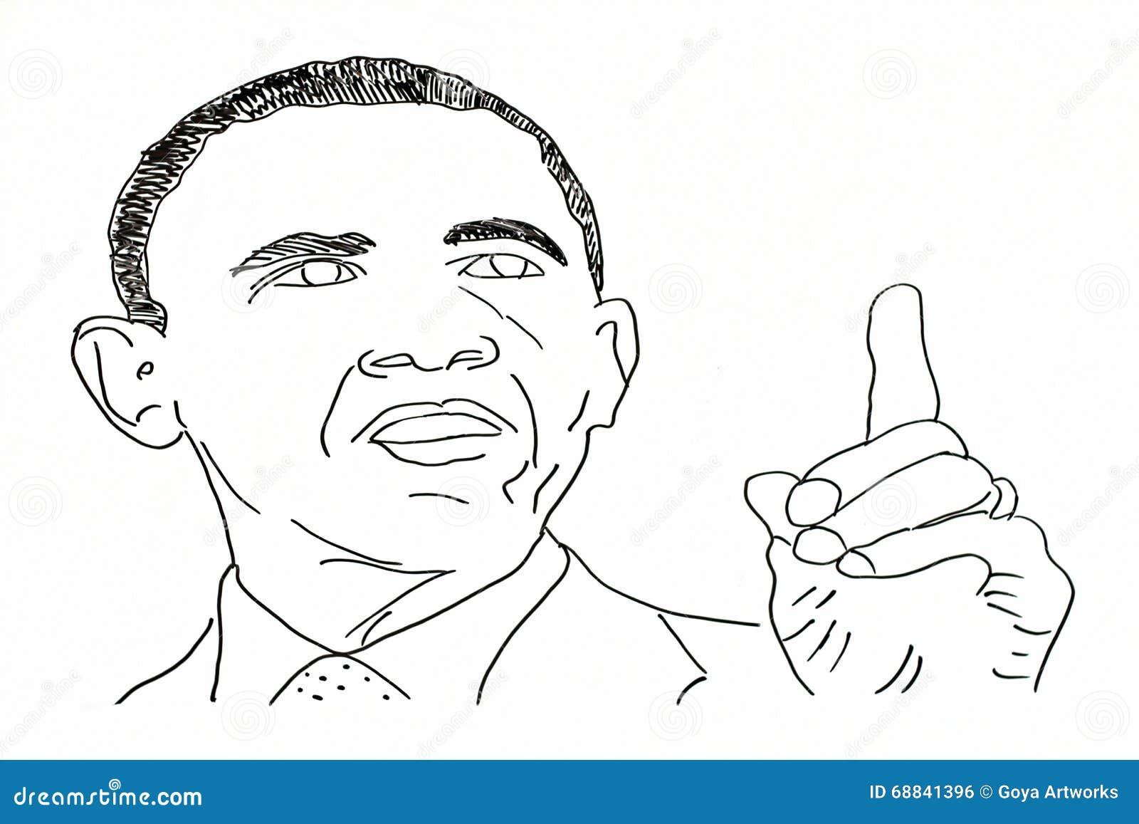 Dibujo de la mano de políticos americanos