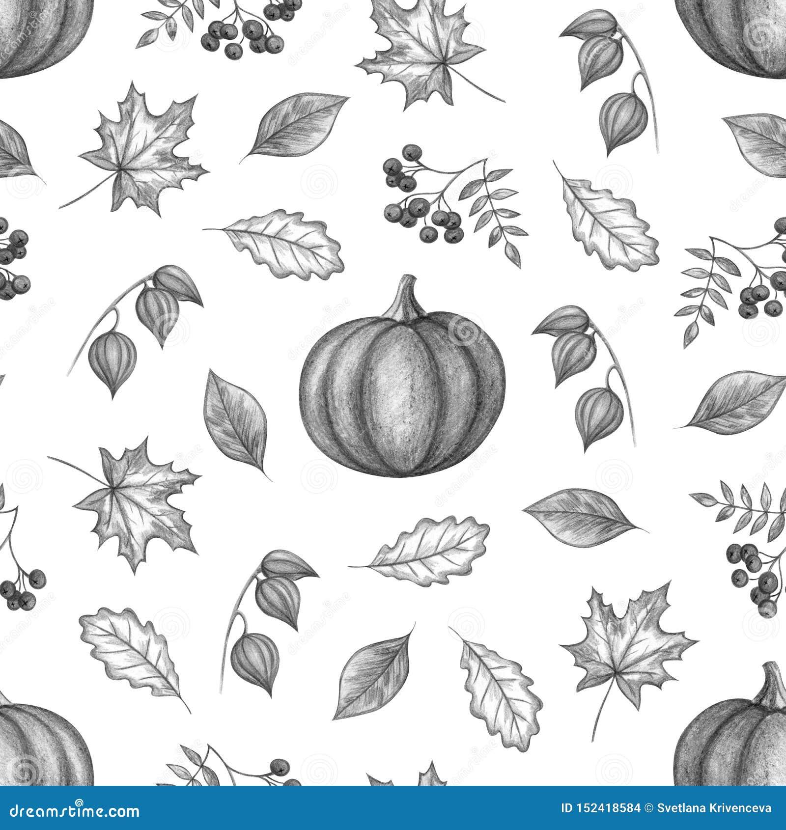 Dibujo de la mano del otoño