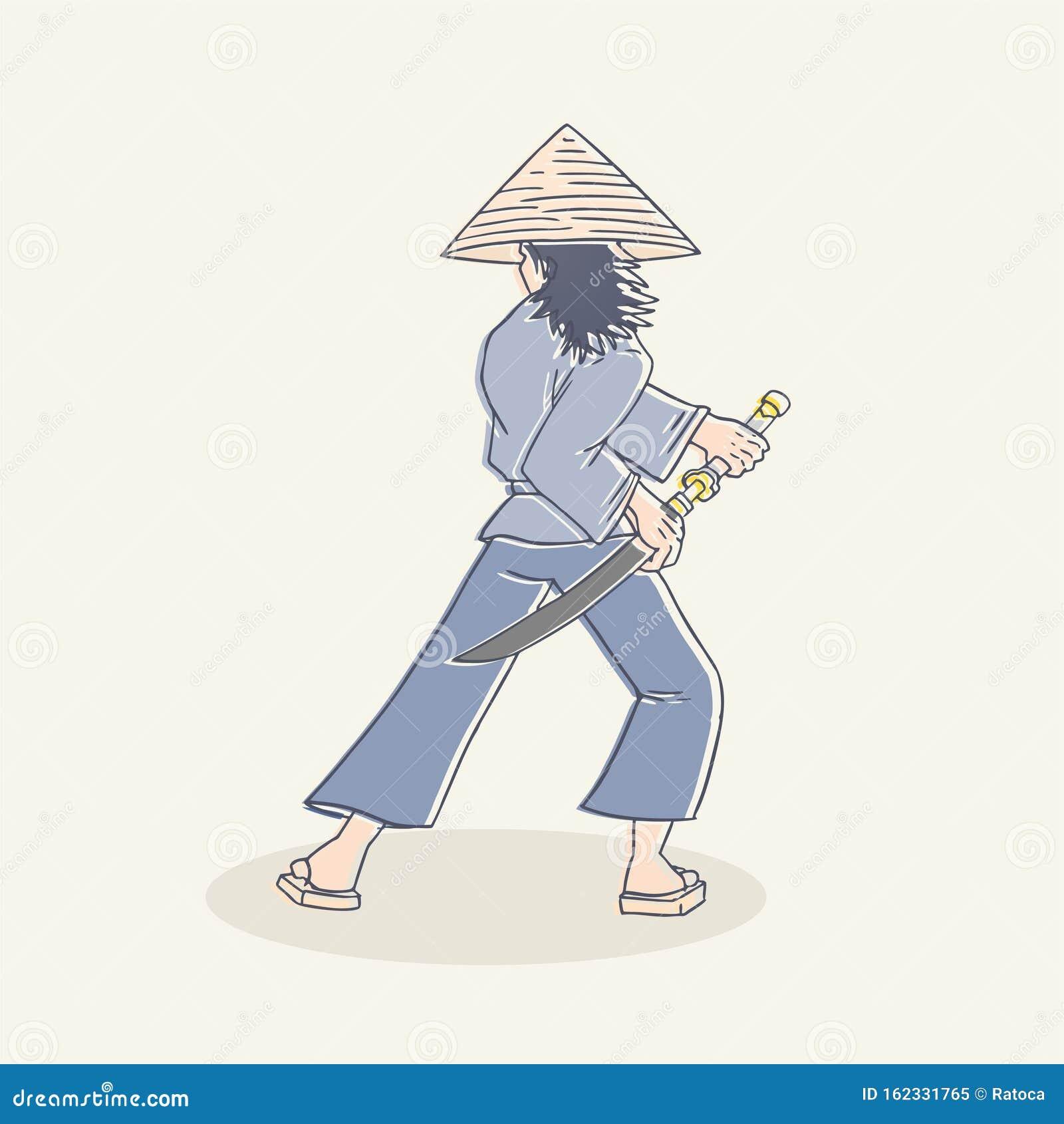 Dibujo De Samurai Ilustracion Del Vector Ilustracion De Samurai 162331765
