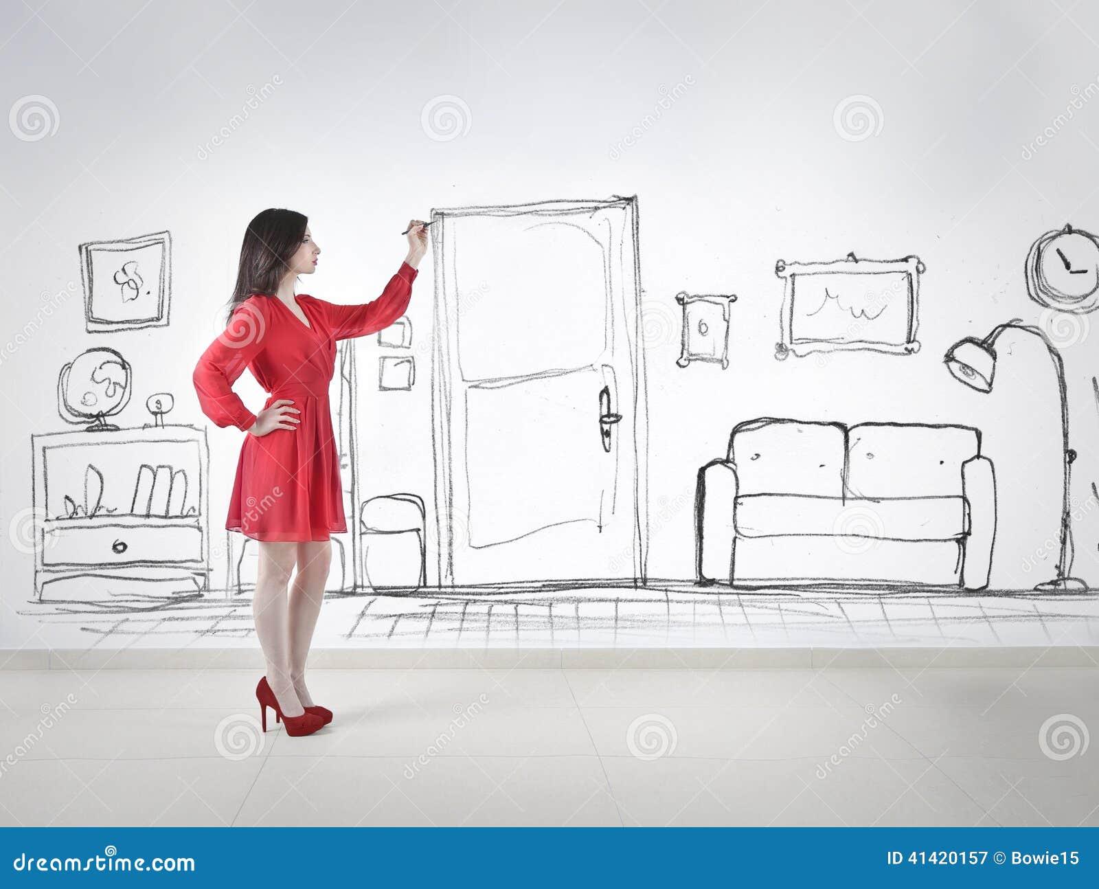 Dibujo de un cuarto