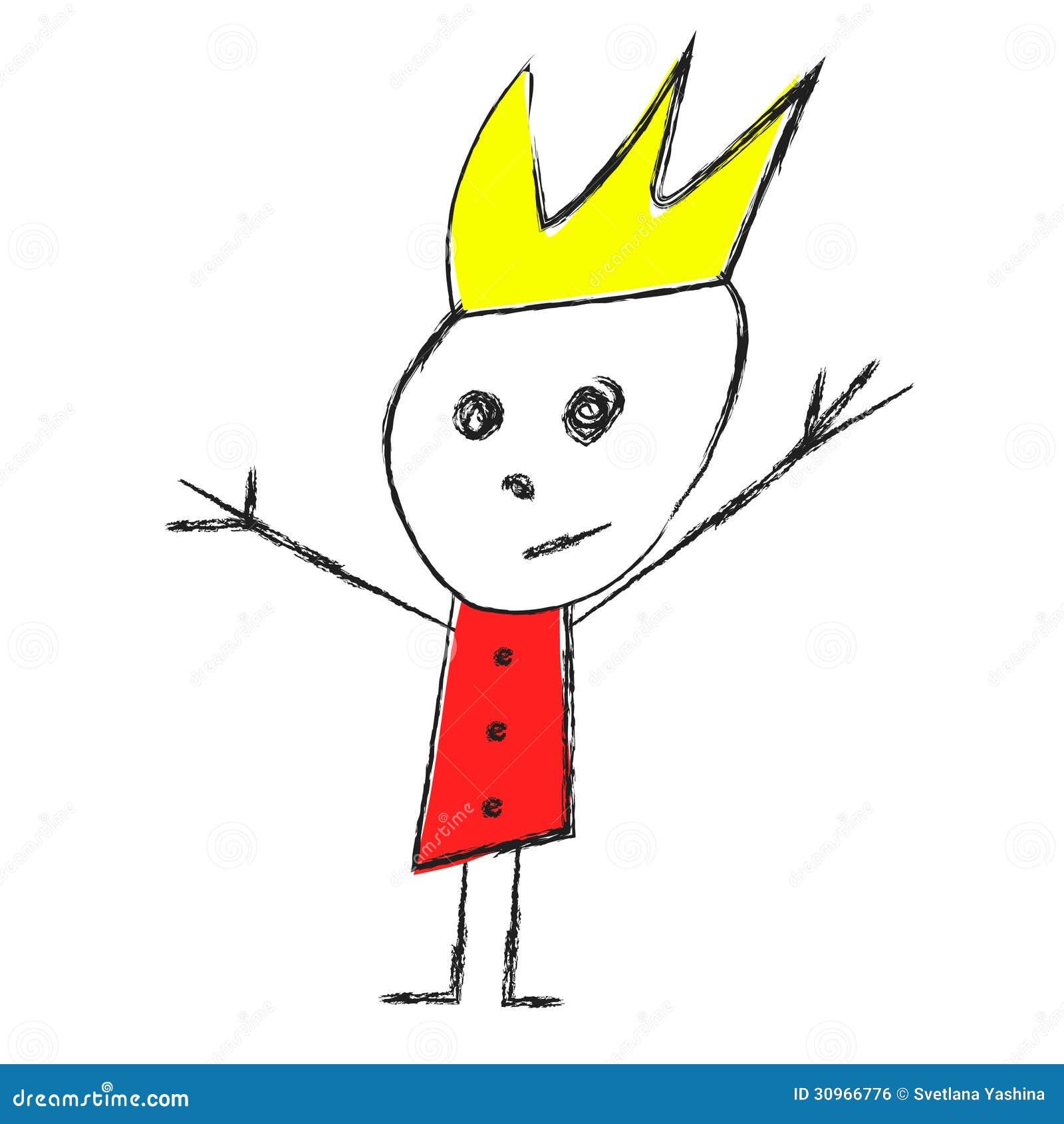 Dibujo De Un Rey Y De Una Reina Ilustración Del Vector Ilustración
