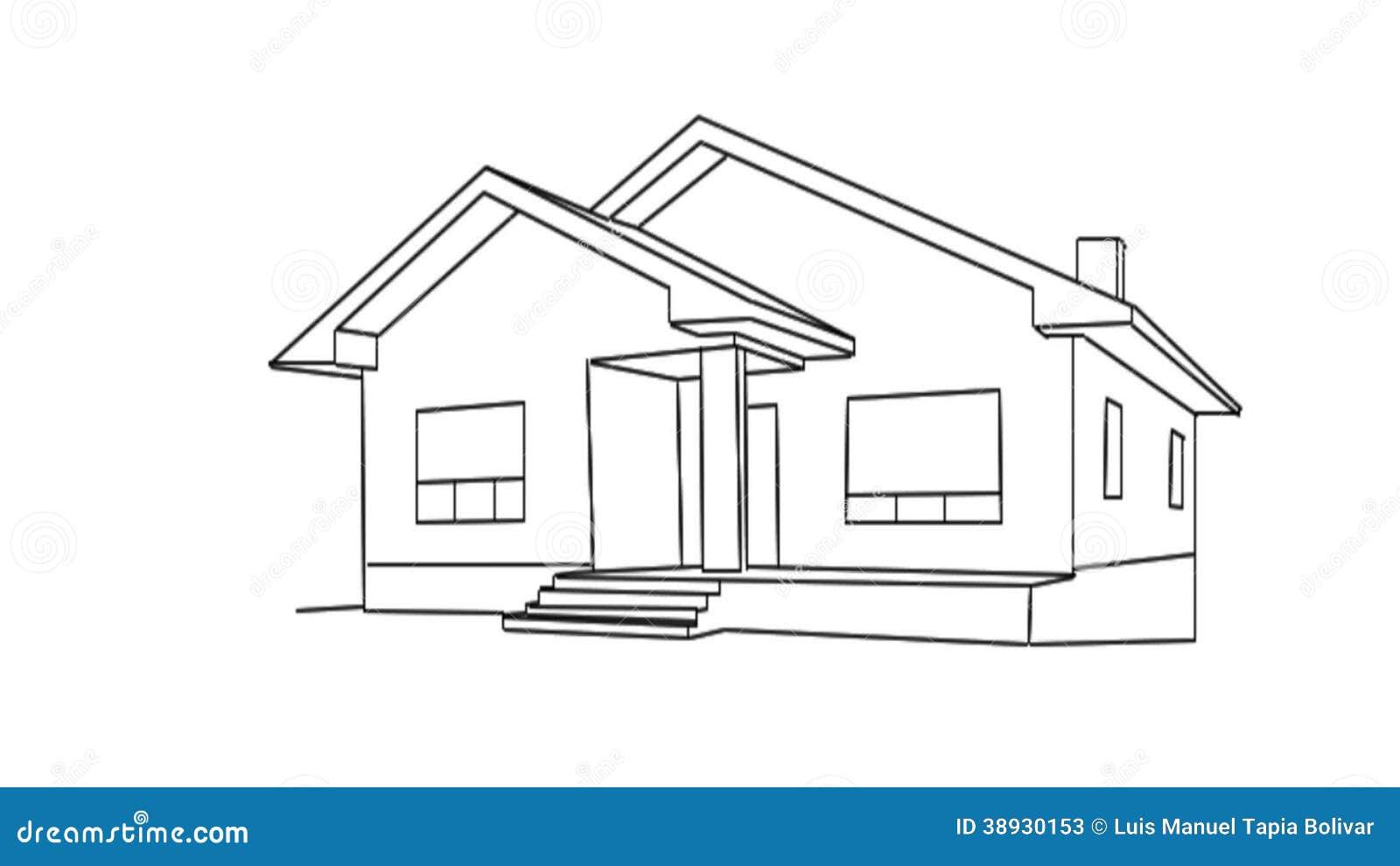 Un casa de para dibujar pictures to pin on pinterest for Dibujar planos de casas