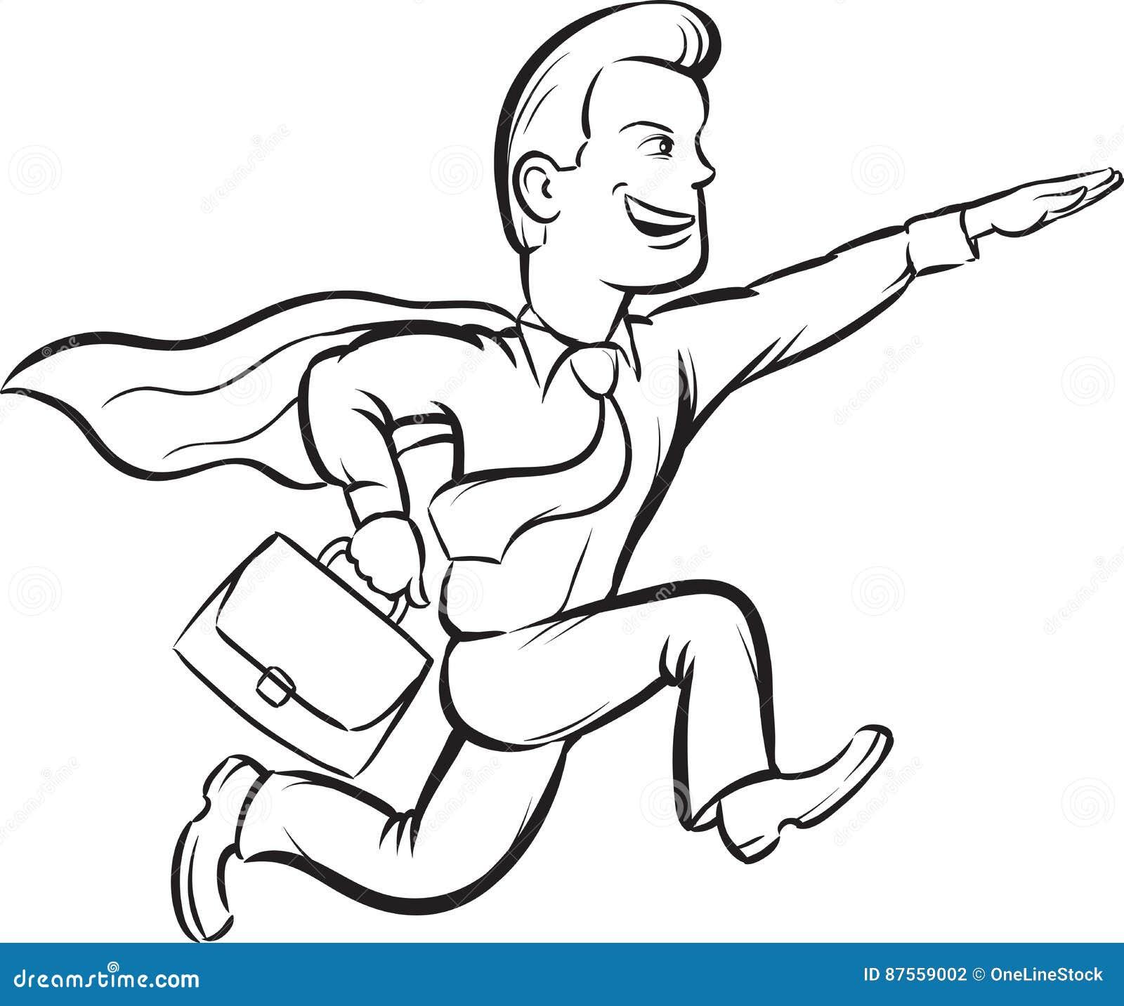 Increíble Superhombre Para Colorear Libro Molde - Dibujos Para ...