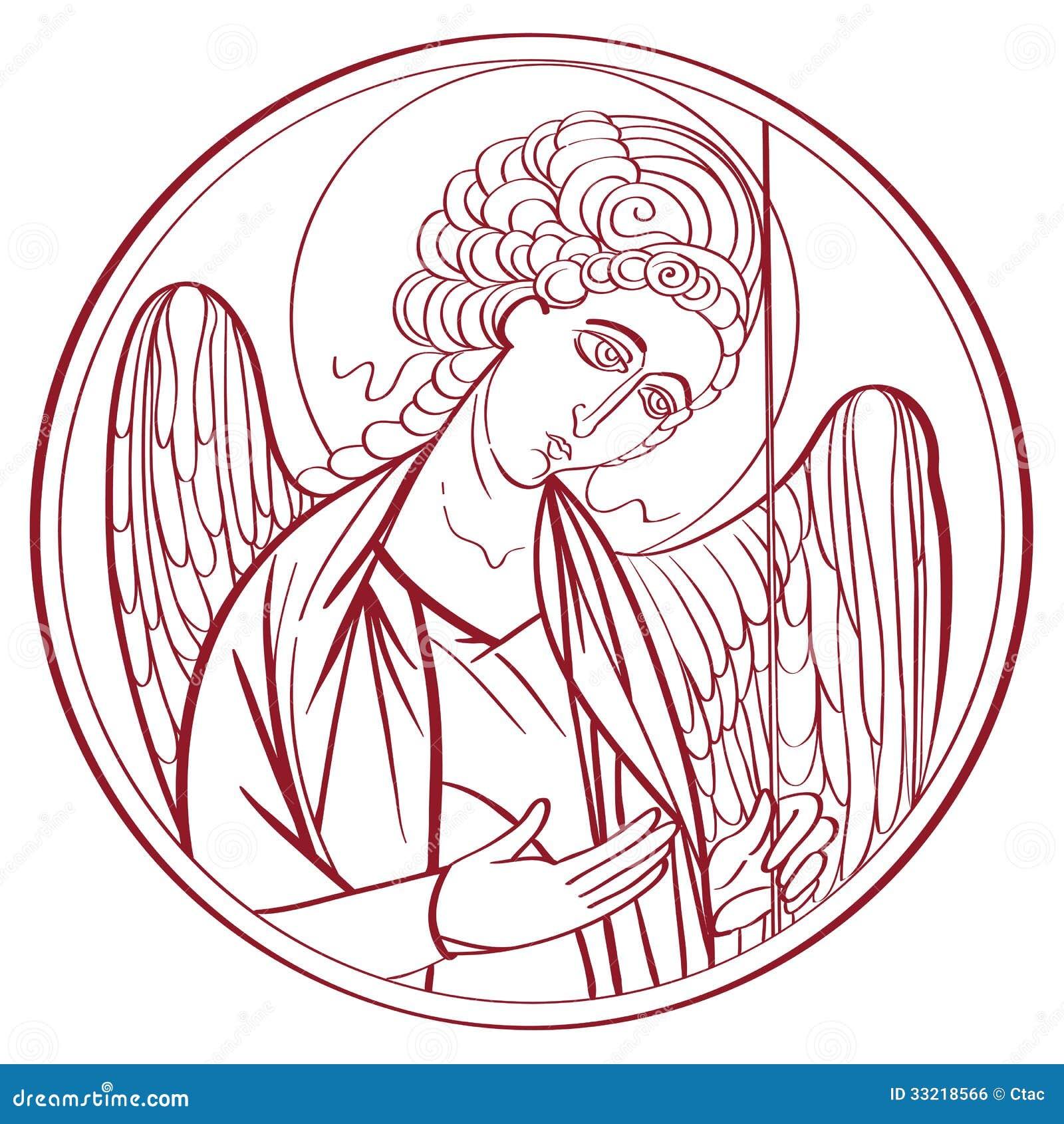 Dibujo del arcángel