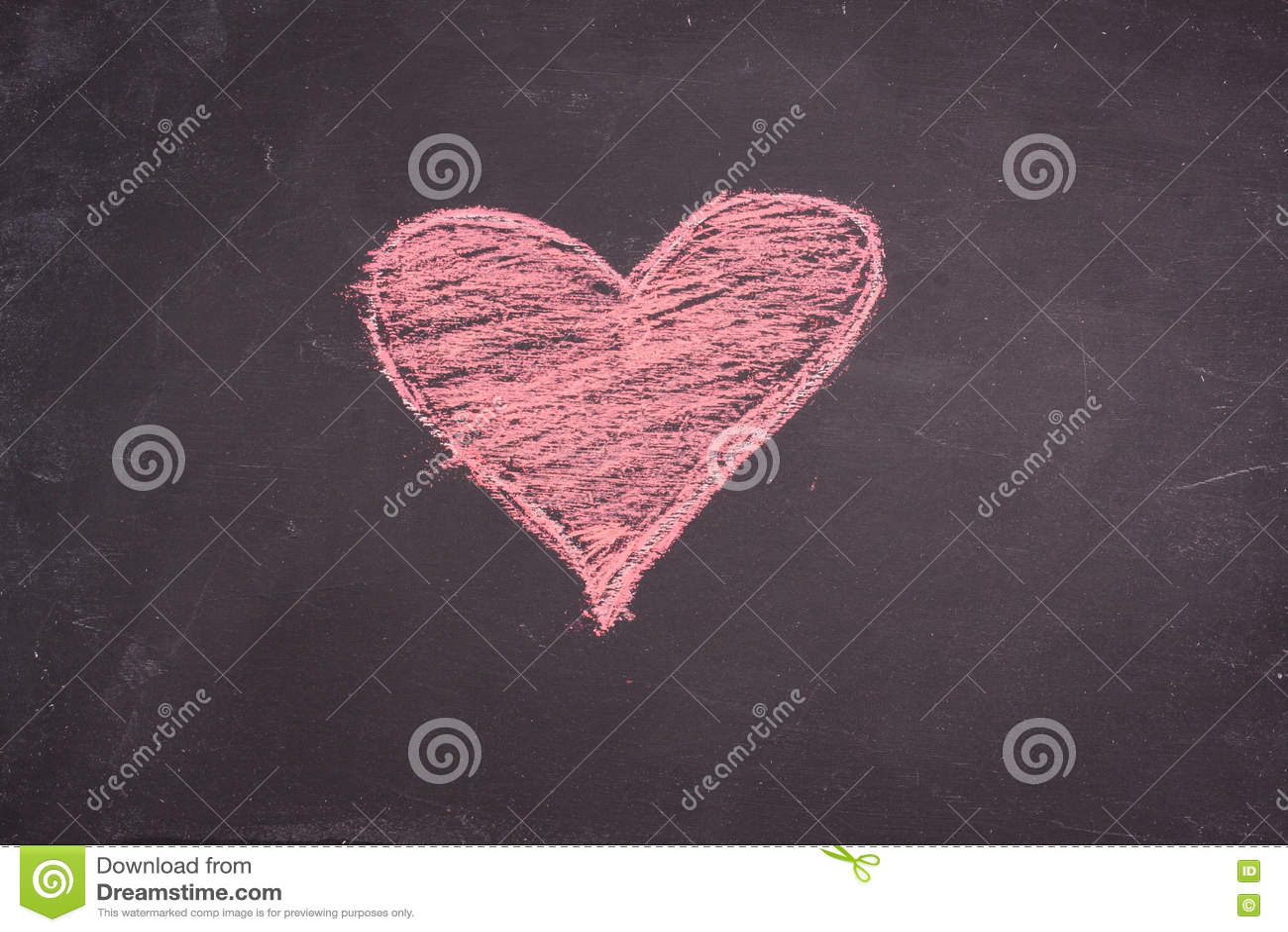 Dibujo del corazón de la tiza