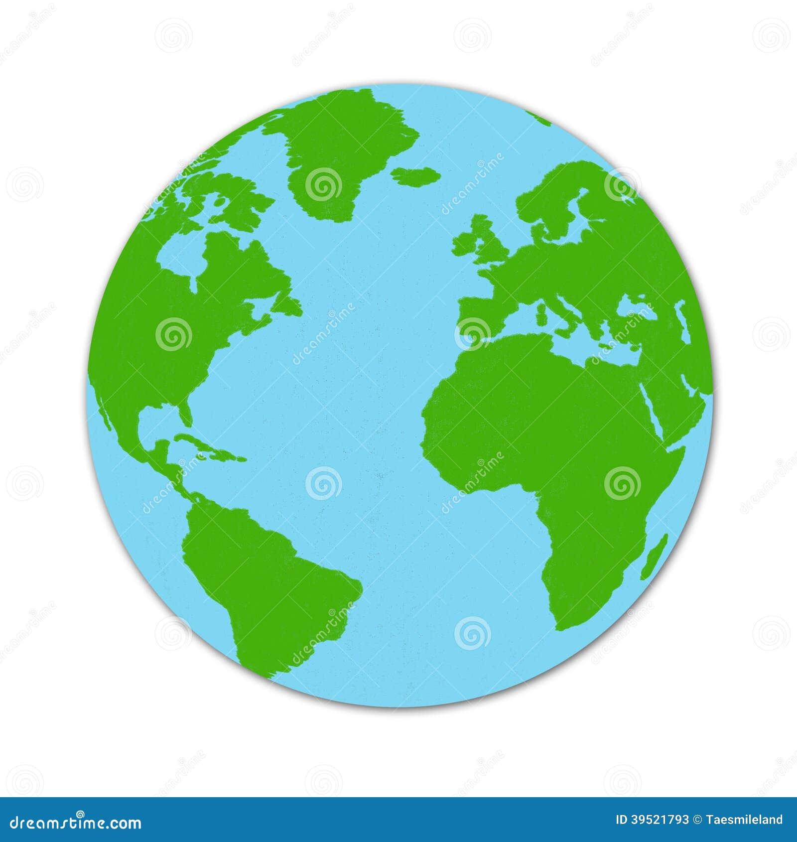 Dibujo Del Mapa Del Mundo Stock De Ilustración Ilustración De