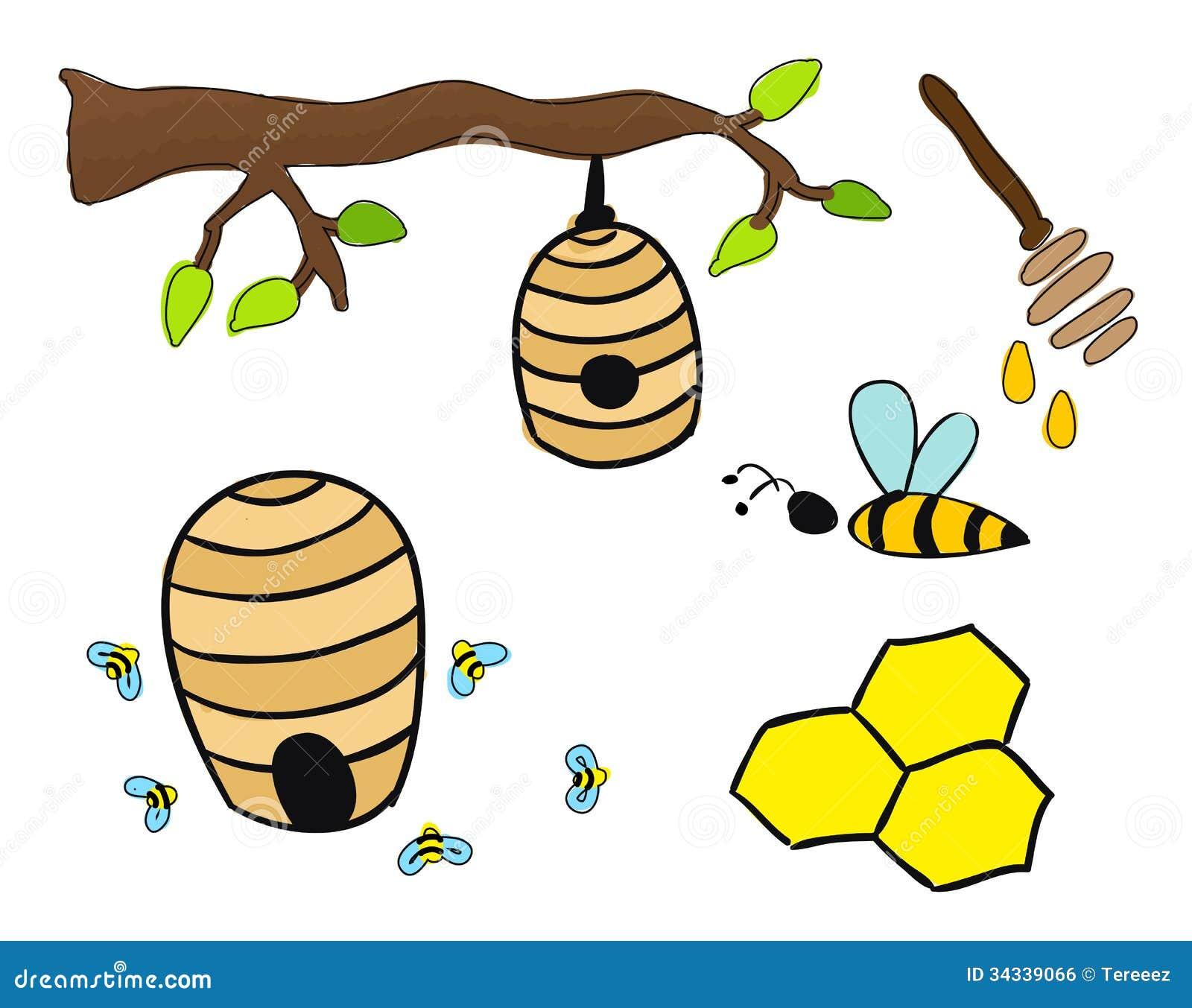 dibujo del vector de las colmenas
