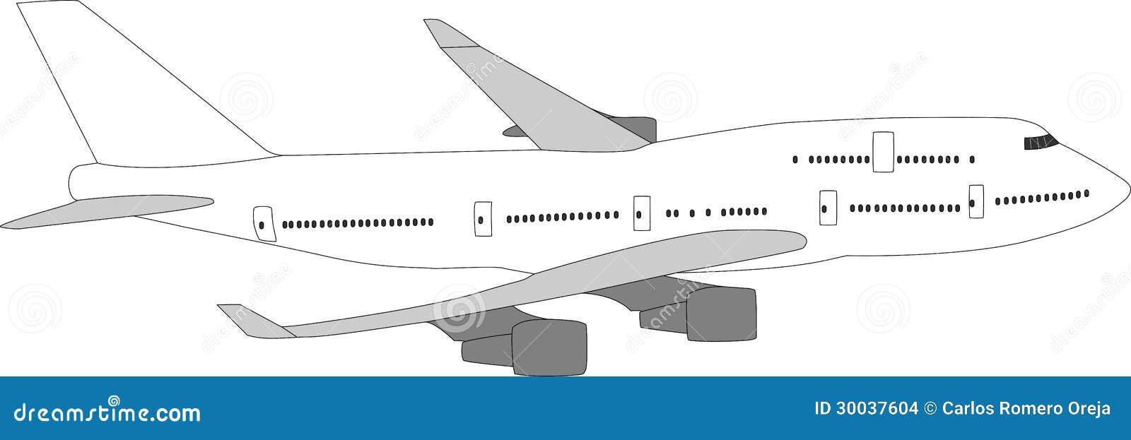 Aviones De Pasajero Grandes Ilustración del Vector - Ilustración de ...