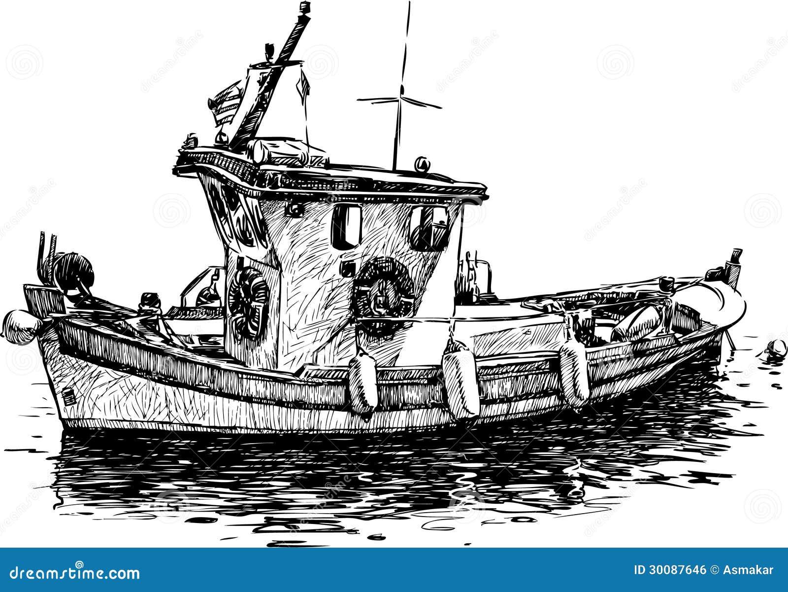 barco de pesca ilustraci u00f3n del vector  ilustraci u00f3n de