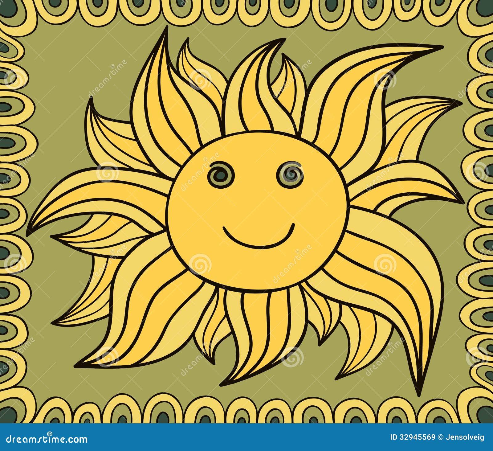 Dibujo estilizado del sol fondo del vector im genes de for Fondo del sol