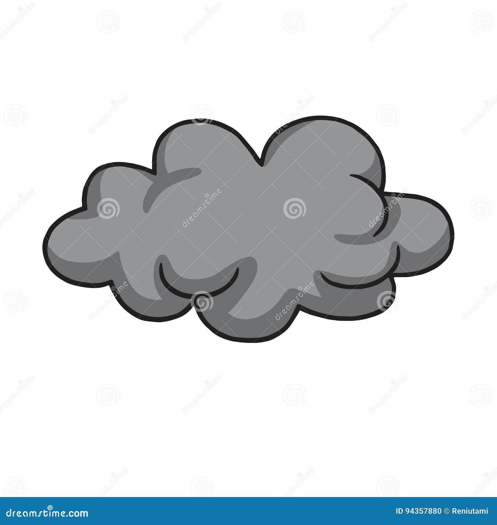 Dibujo Fresco De Grey Dark Clod Vector Illustration Ilustración del Vector  - Ilustración de nublado, trazado: 94357880