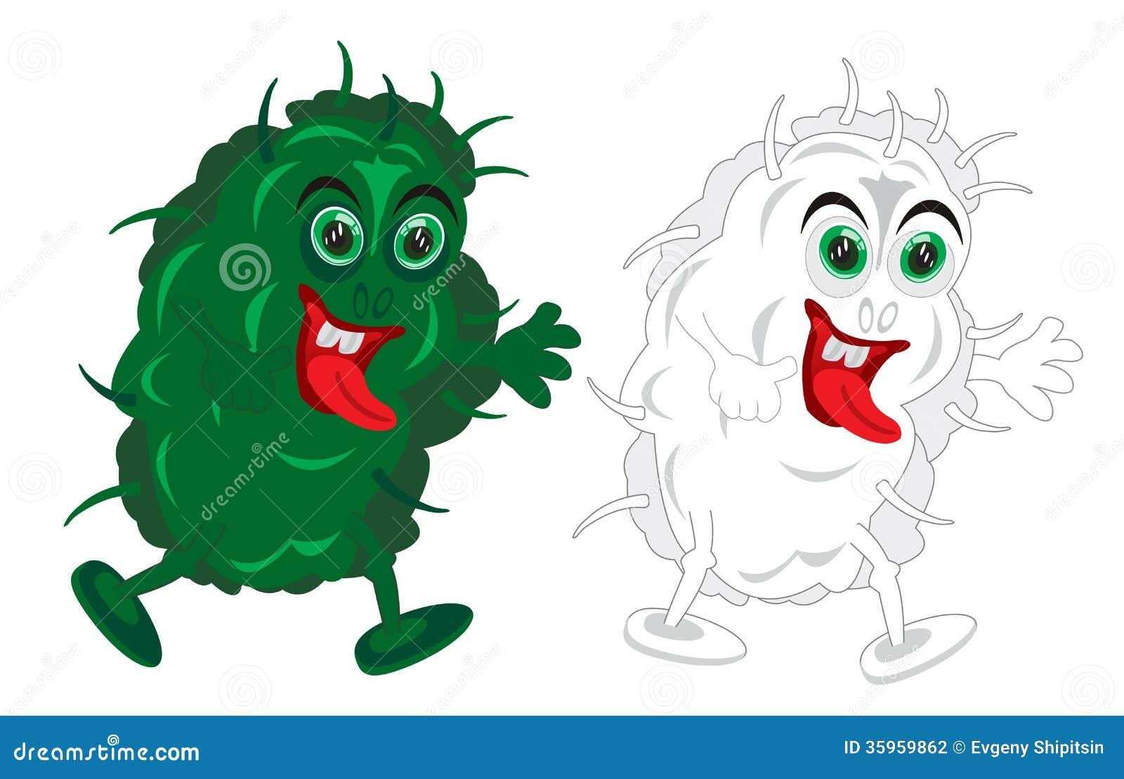 Dibujo a los bacterias
