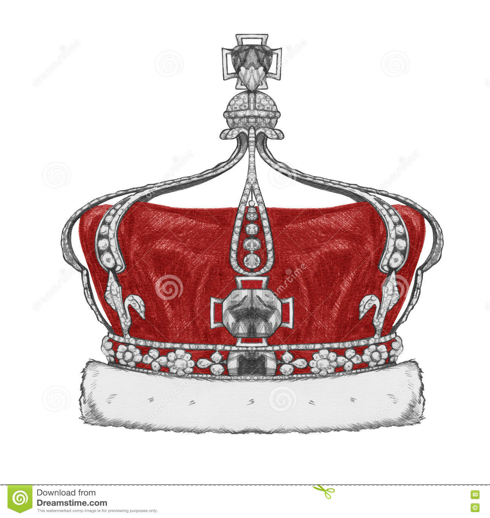 Dibujo original de la corona