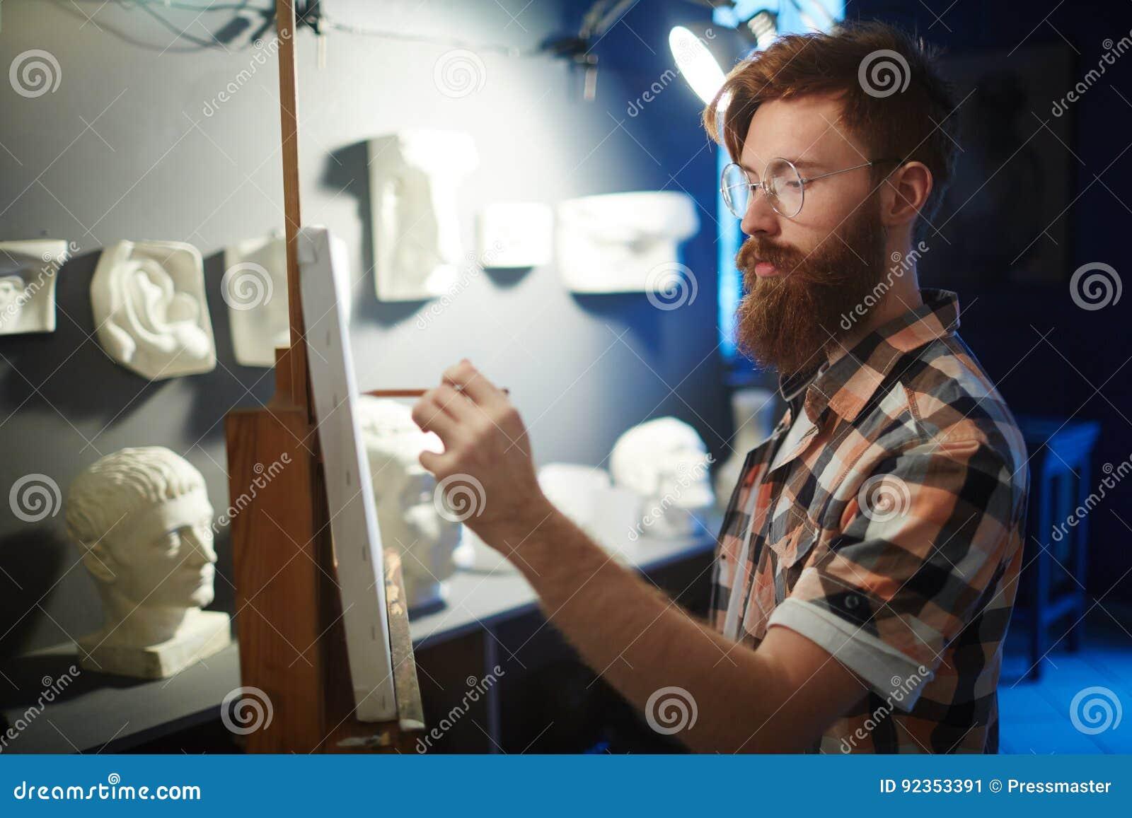 Dibujo Practicante De La Anatomía En Art Class Imagen de archivo ...