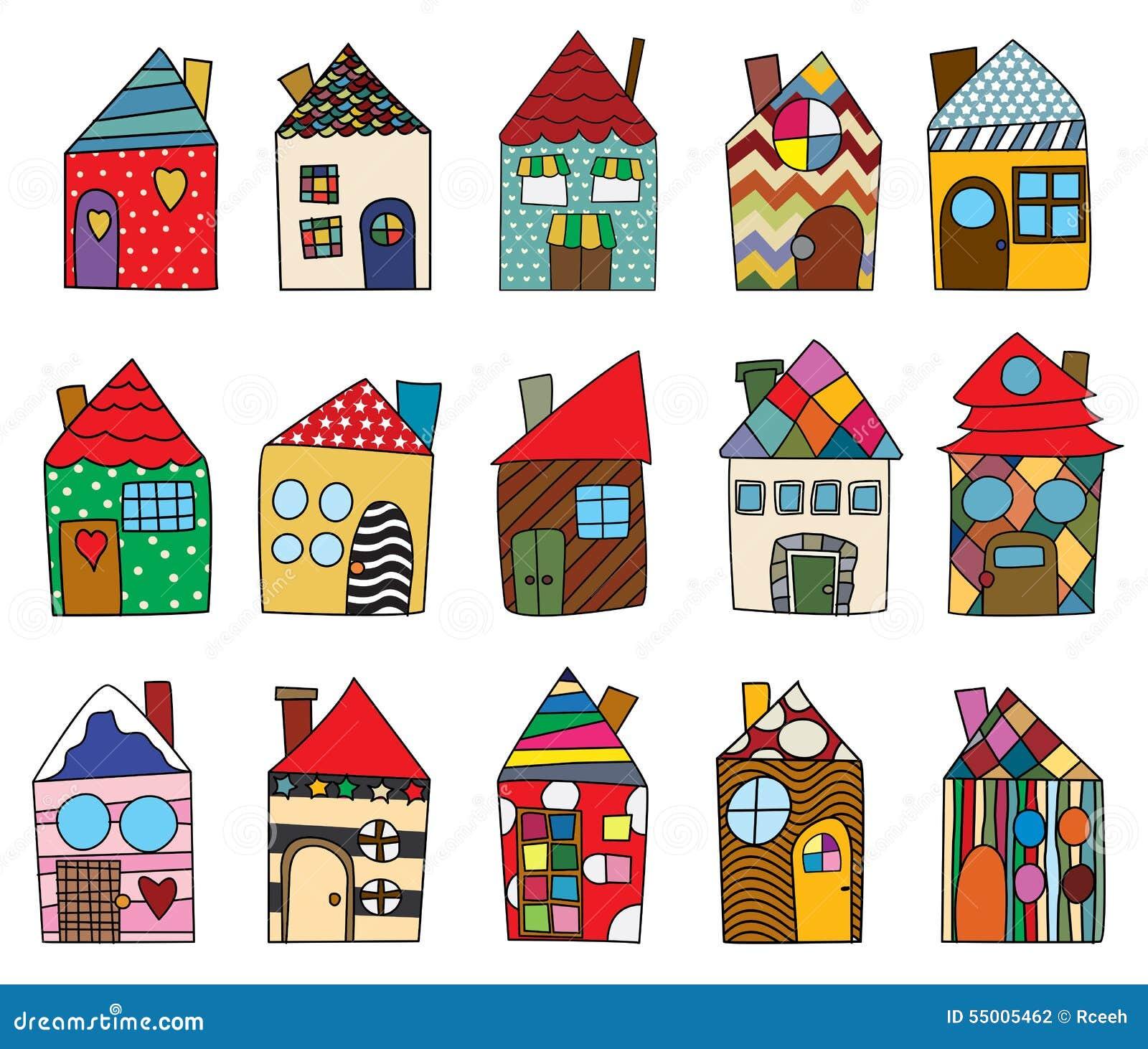 Dibujos infantiles de la casa stock de ilustraci n - Imagenes infantiles de casas para colorear ...