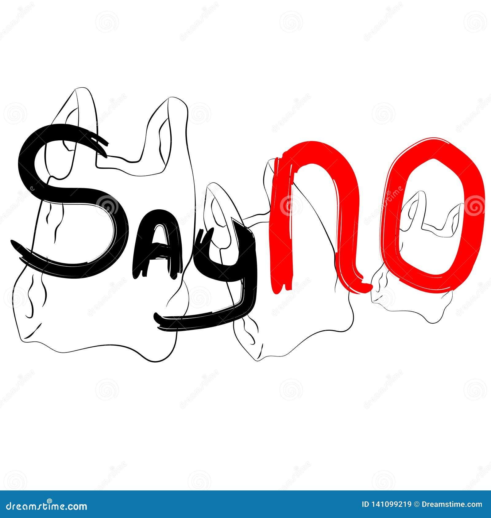 Dica NO ai sacchetti di plastica
