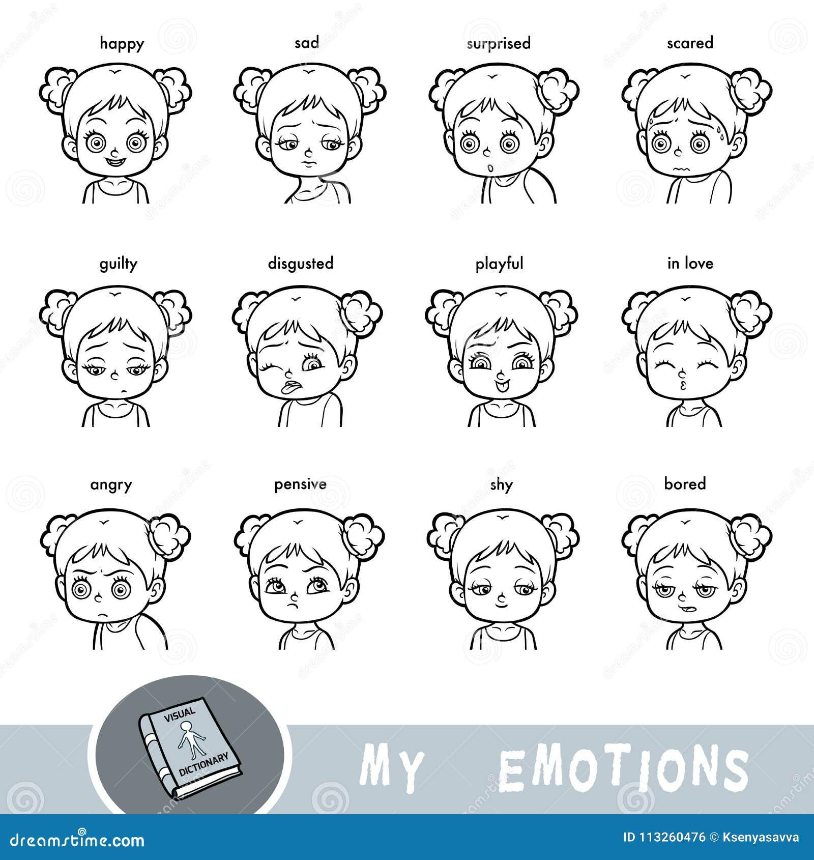 Diccionario visual de la historieta para los niños Las emociones humanas