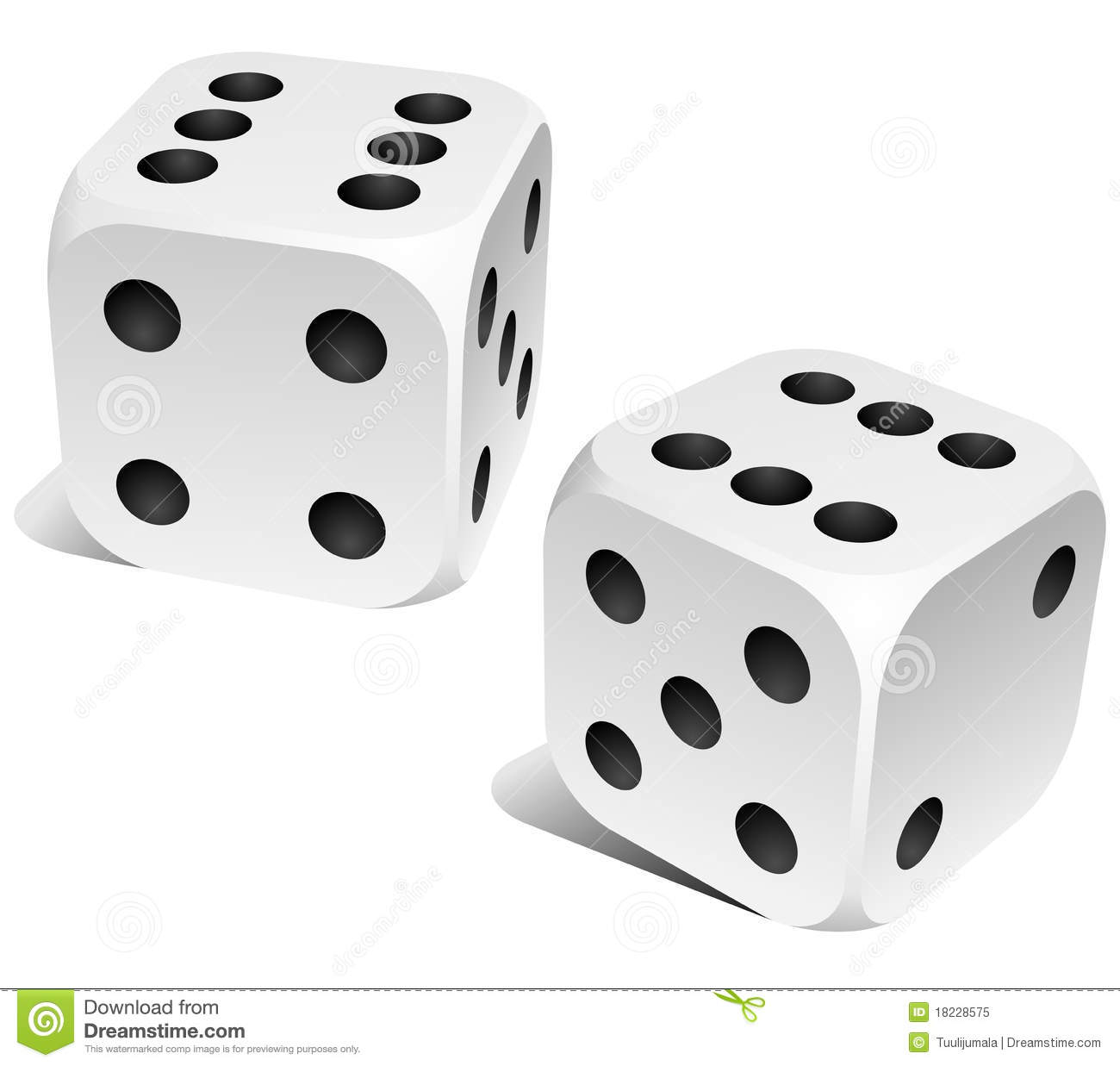 Download Dice stock vector. Illustration of number, jackpot, lucky - 18228575