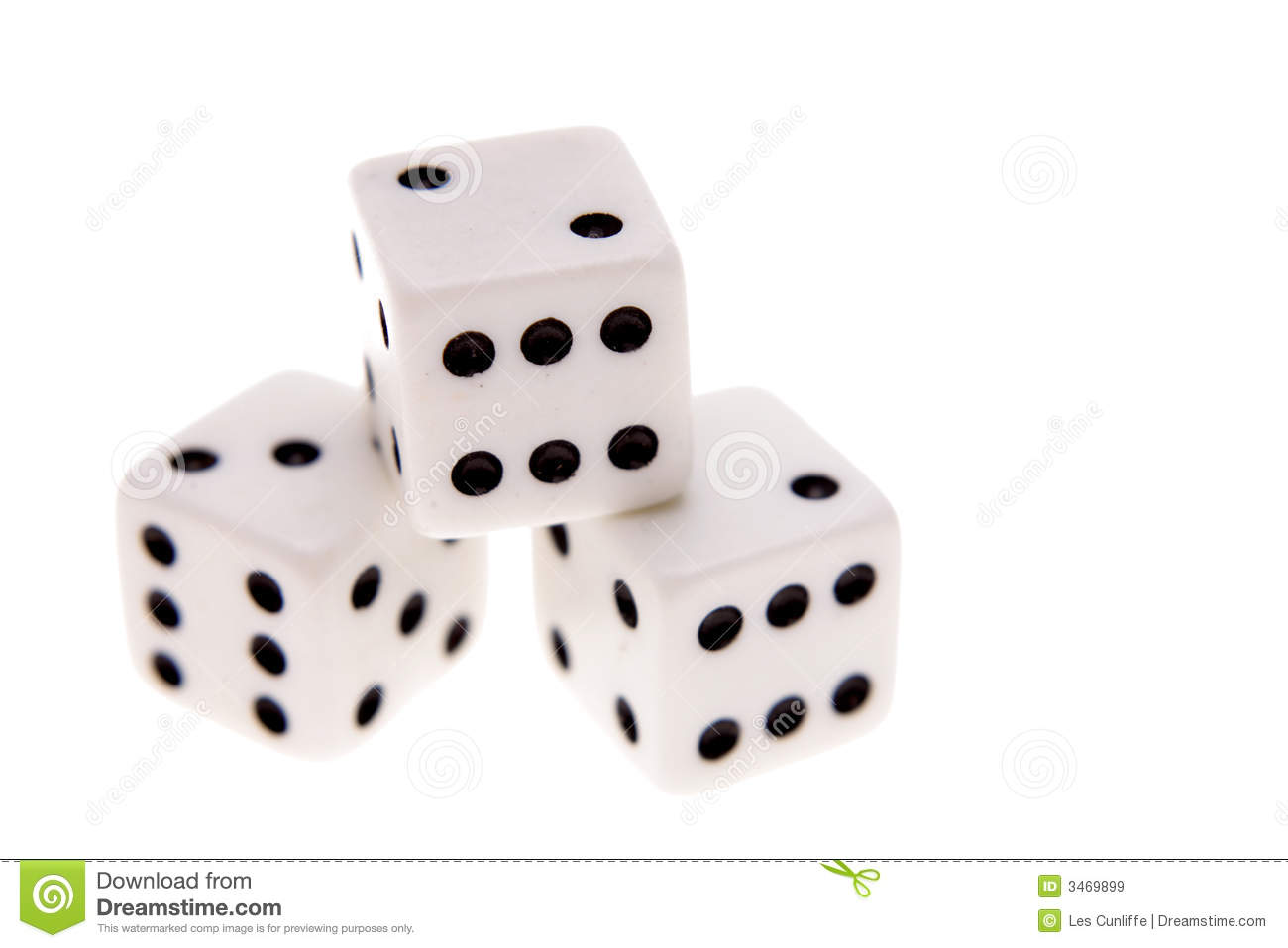 Dice Royalty Free Stock Images Image 3469899