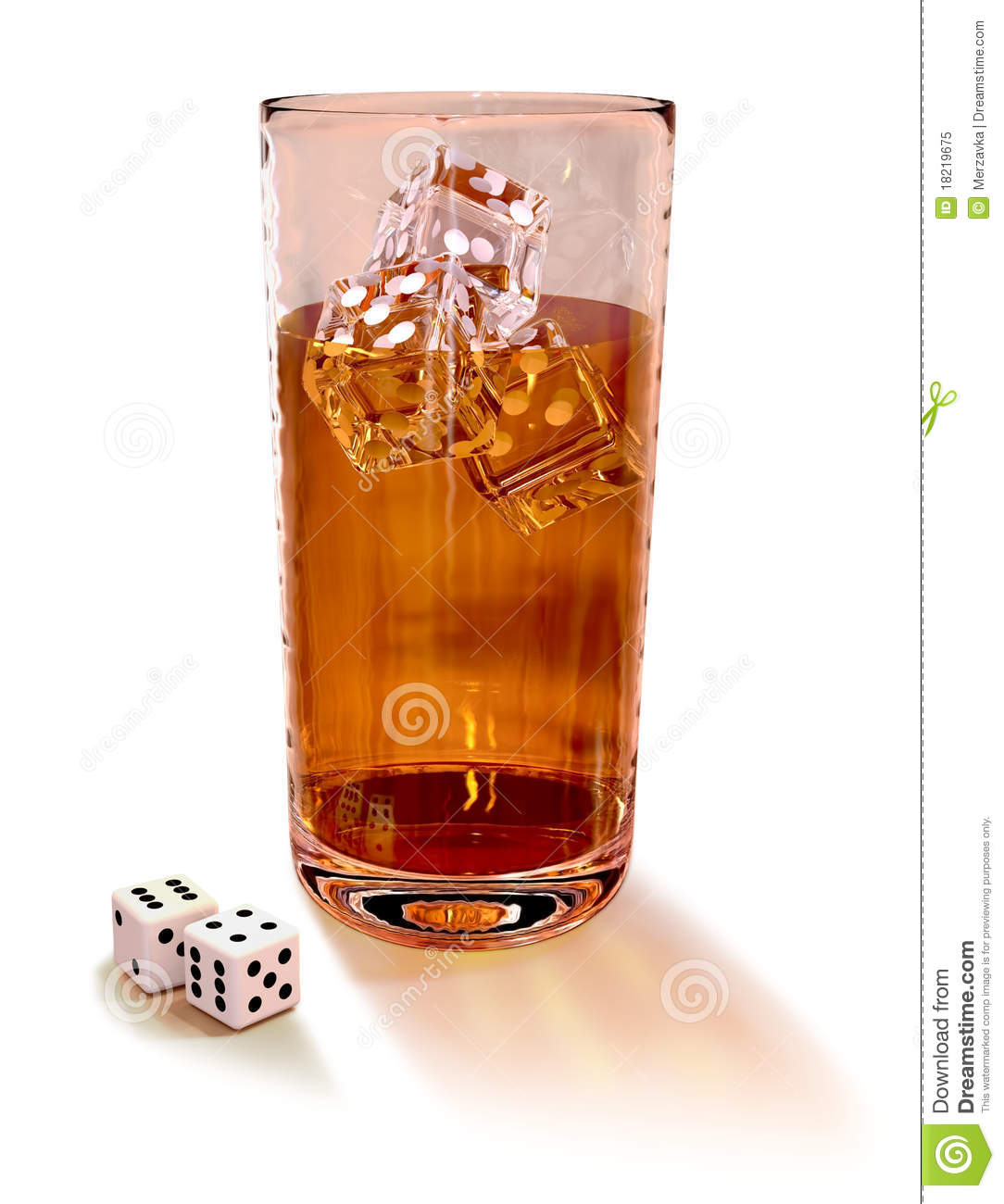 Dice with cocktail