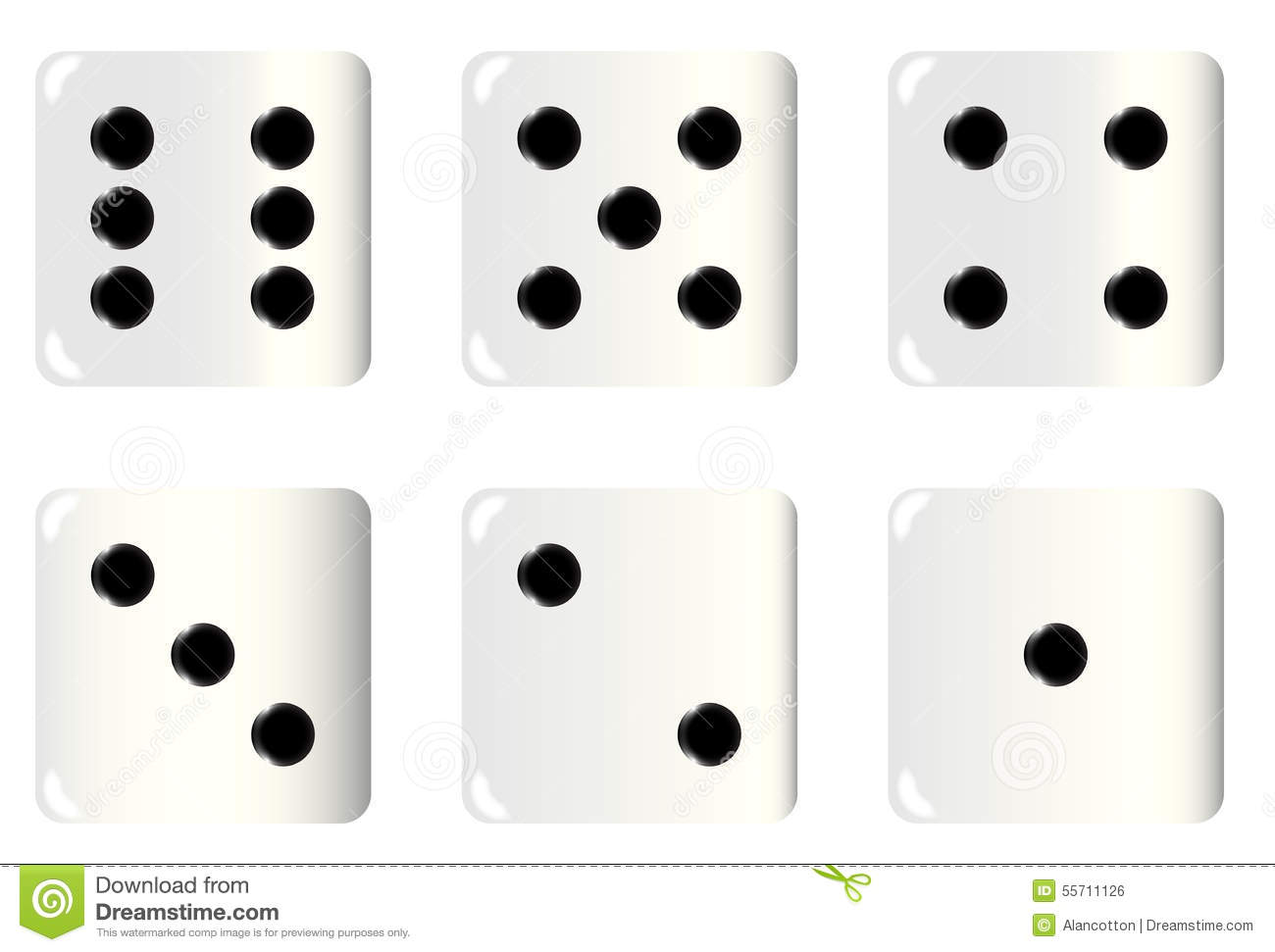 Dice Faces stock illustration. Illustration of gambling ...