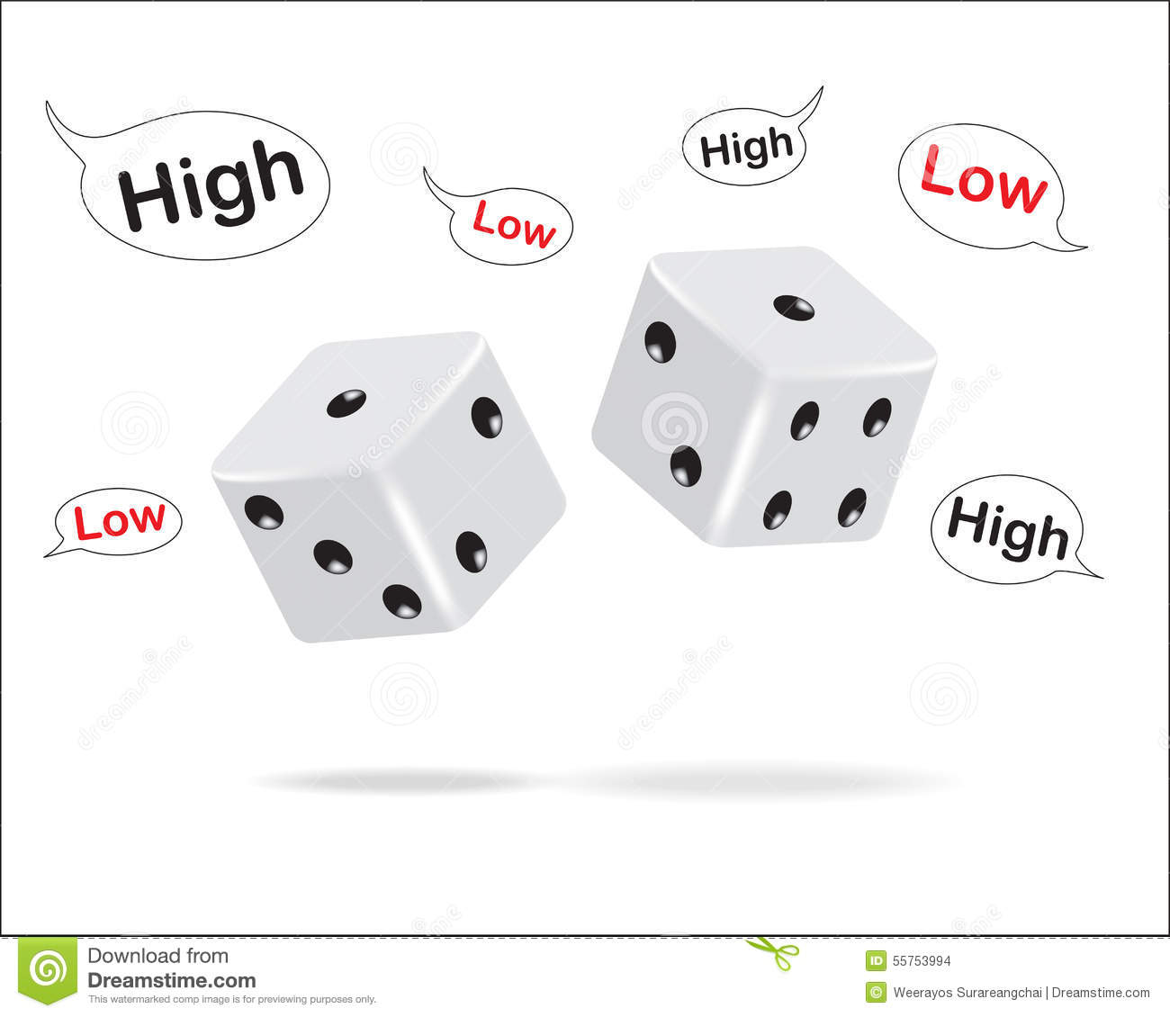 how to play high low dice