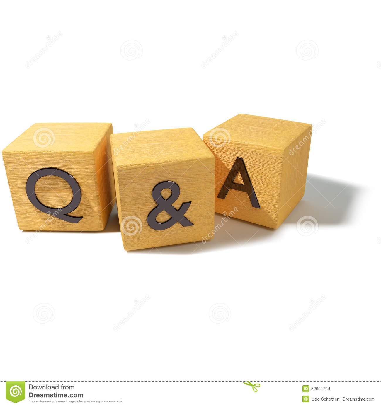 Dice With Questions And Answers Stock Photo - Image of business